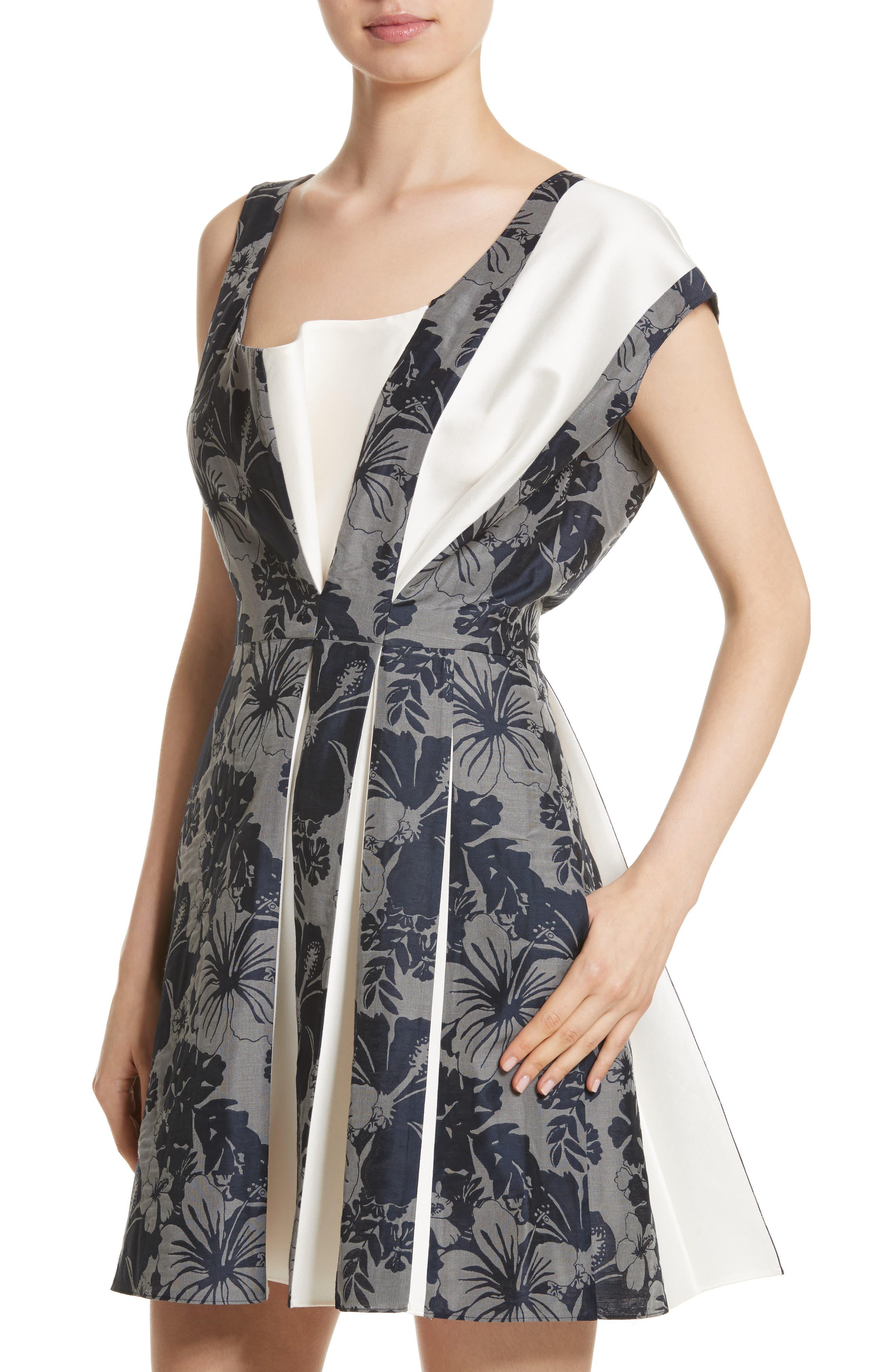 Alternate Image 4  - Stella McCartney Pleated Floral Jacquard Dress