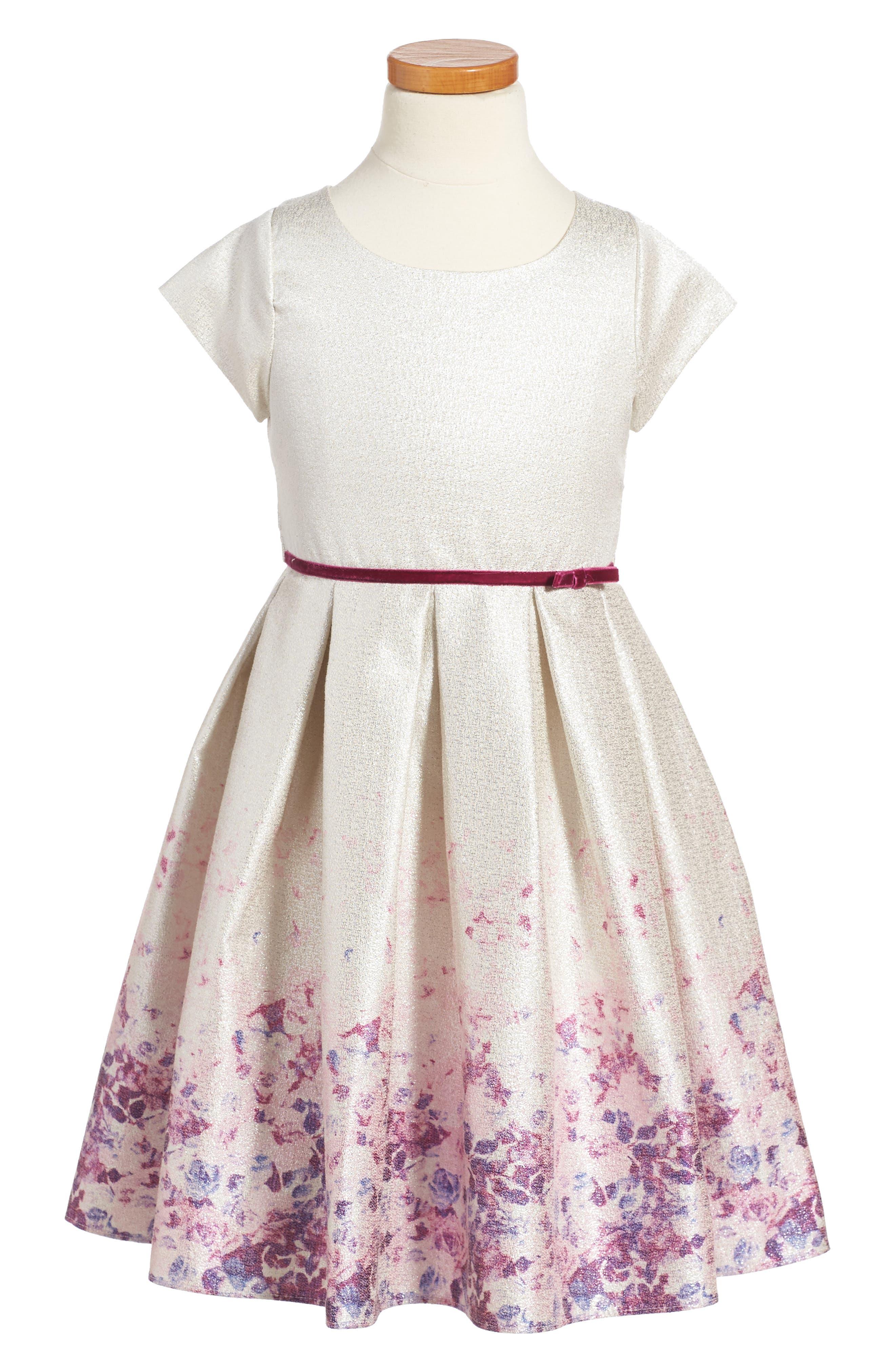 Liza Dress,                         Main,                         color, Silver/ Multi