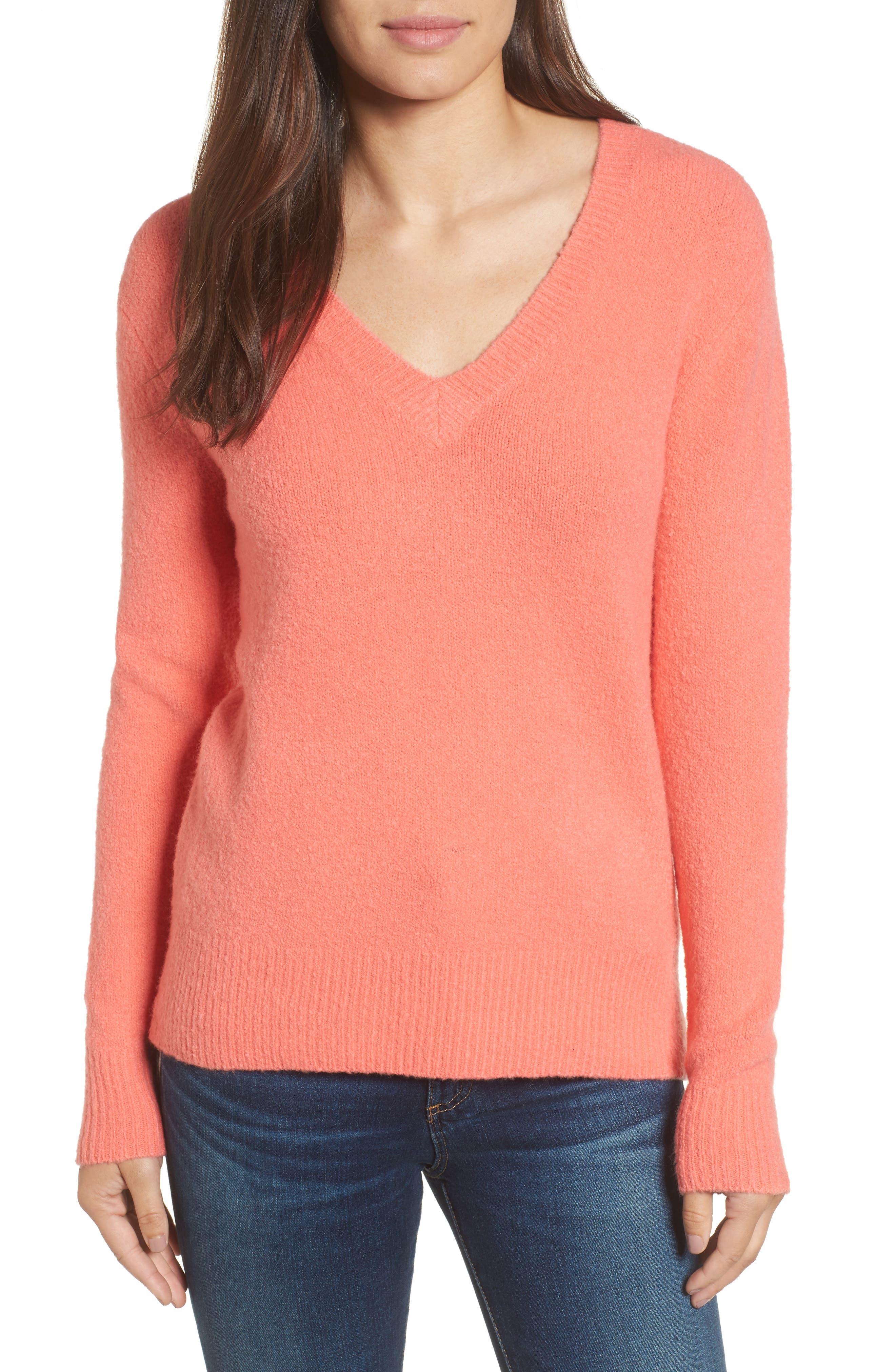 Halogen® Tie Back Sweater (Regular & Petite)