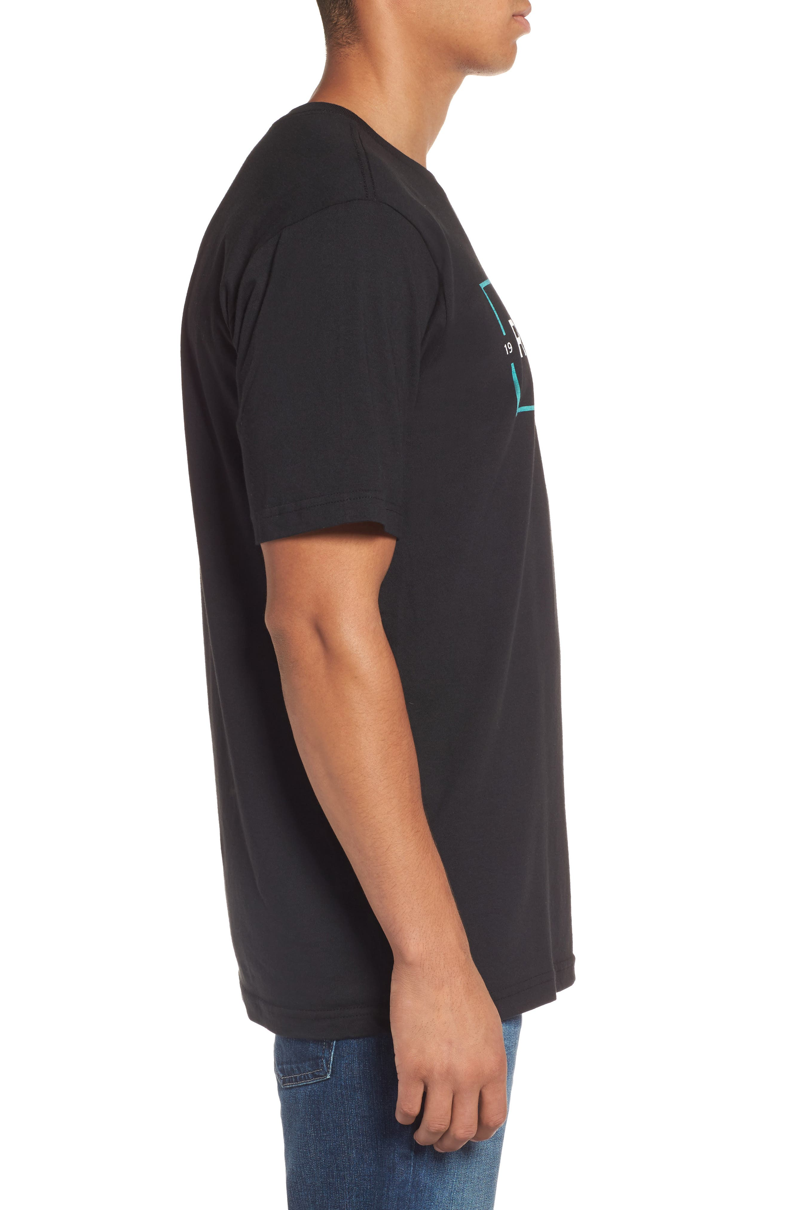 Cage Classic Graphic T-Shirt,                             Alternate thumbnail 3, color,                             Black