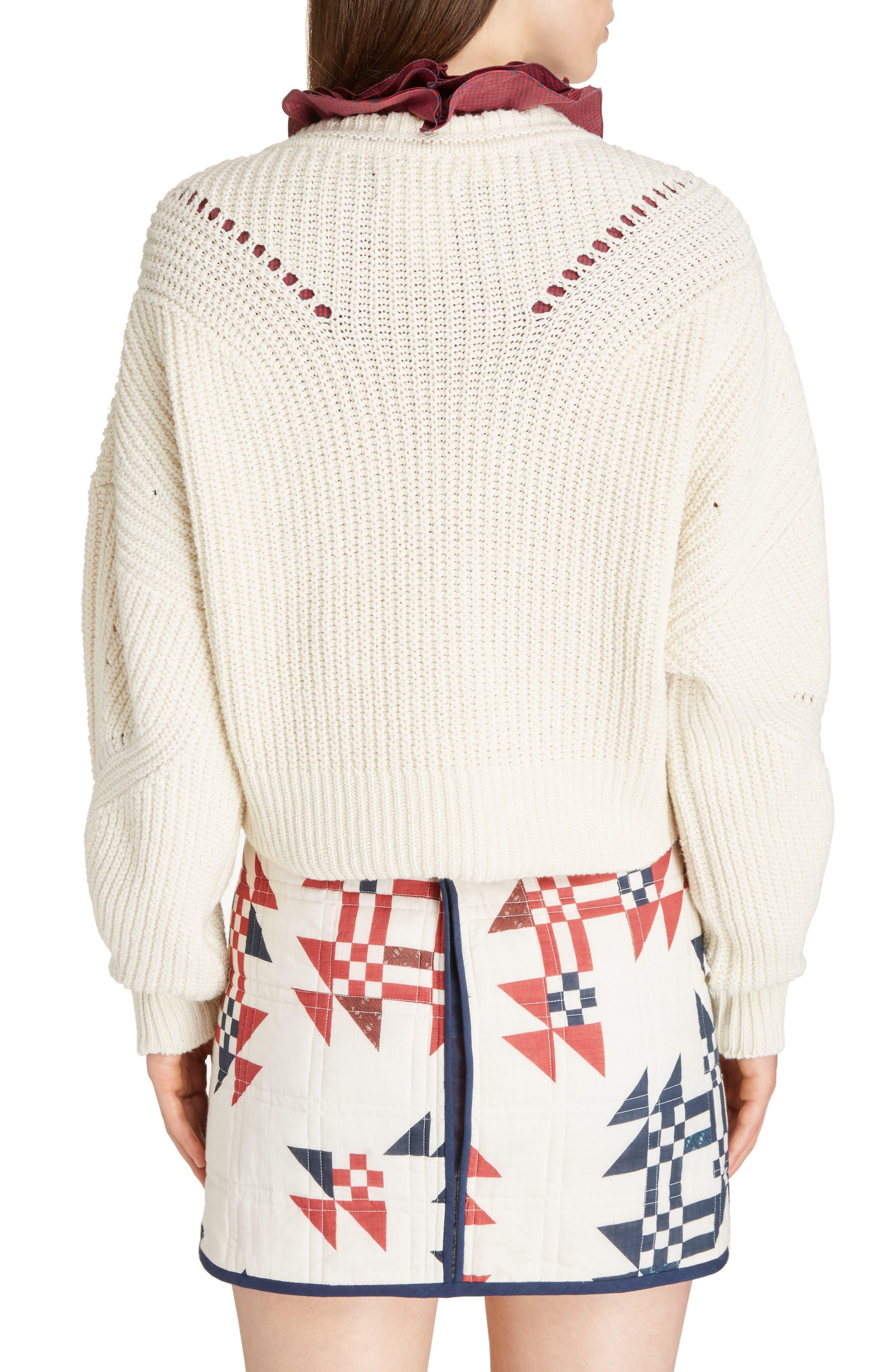 Laley Cotton & Wool Blend Sweater,                             Alternate thumbnail 2, color,                             Ecru
