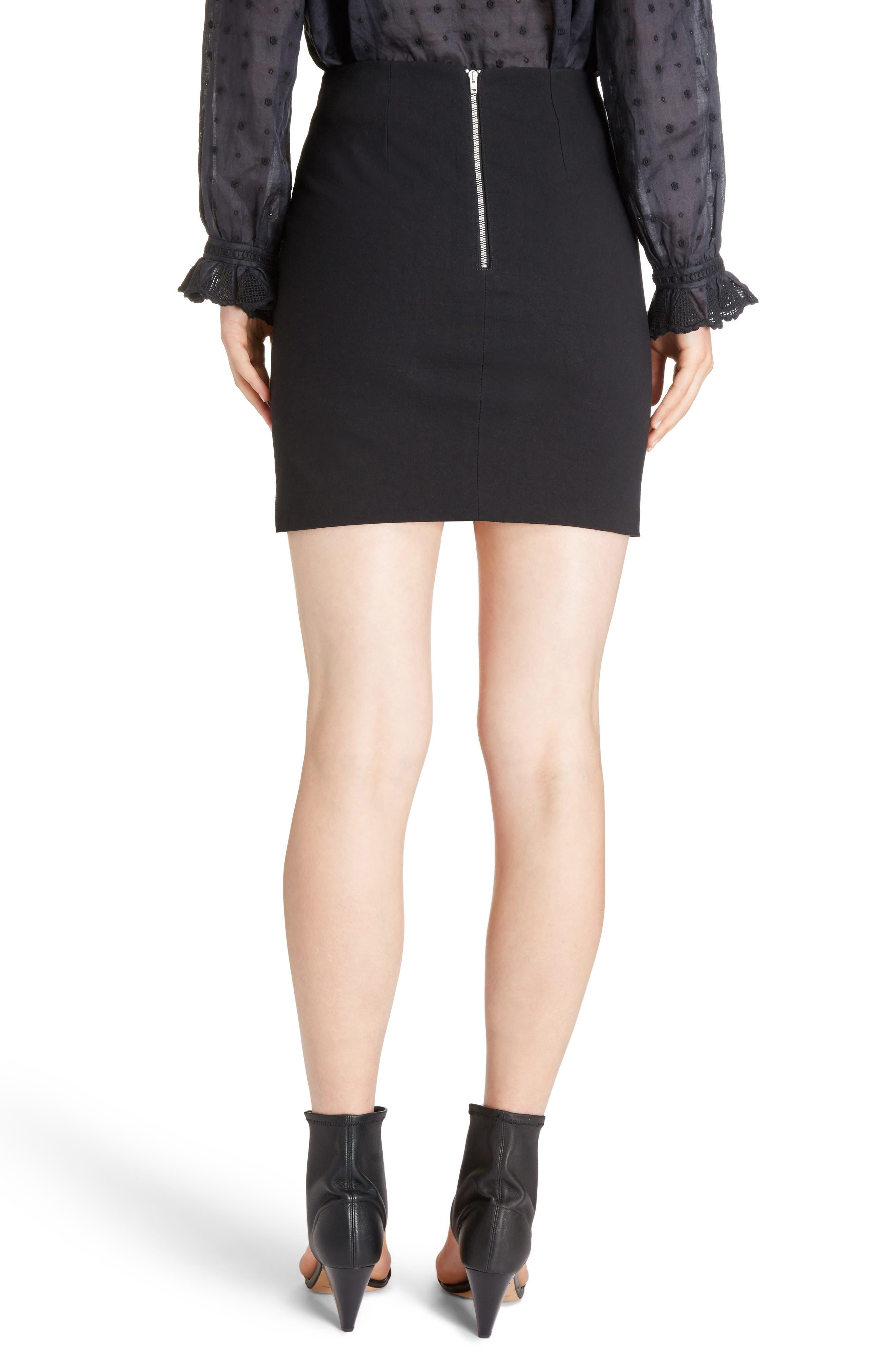Lefly Ruffle Miniskirt,                             Alternate thumbnail 2, color,                             Black