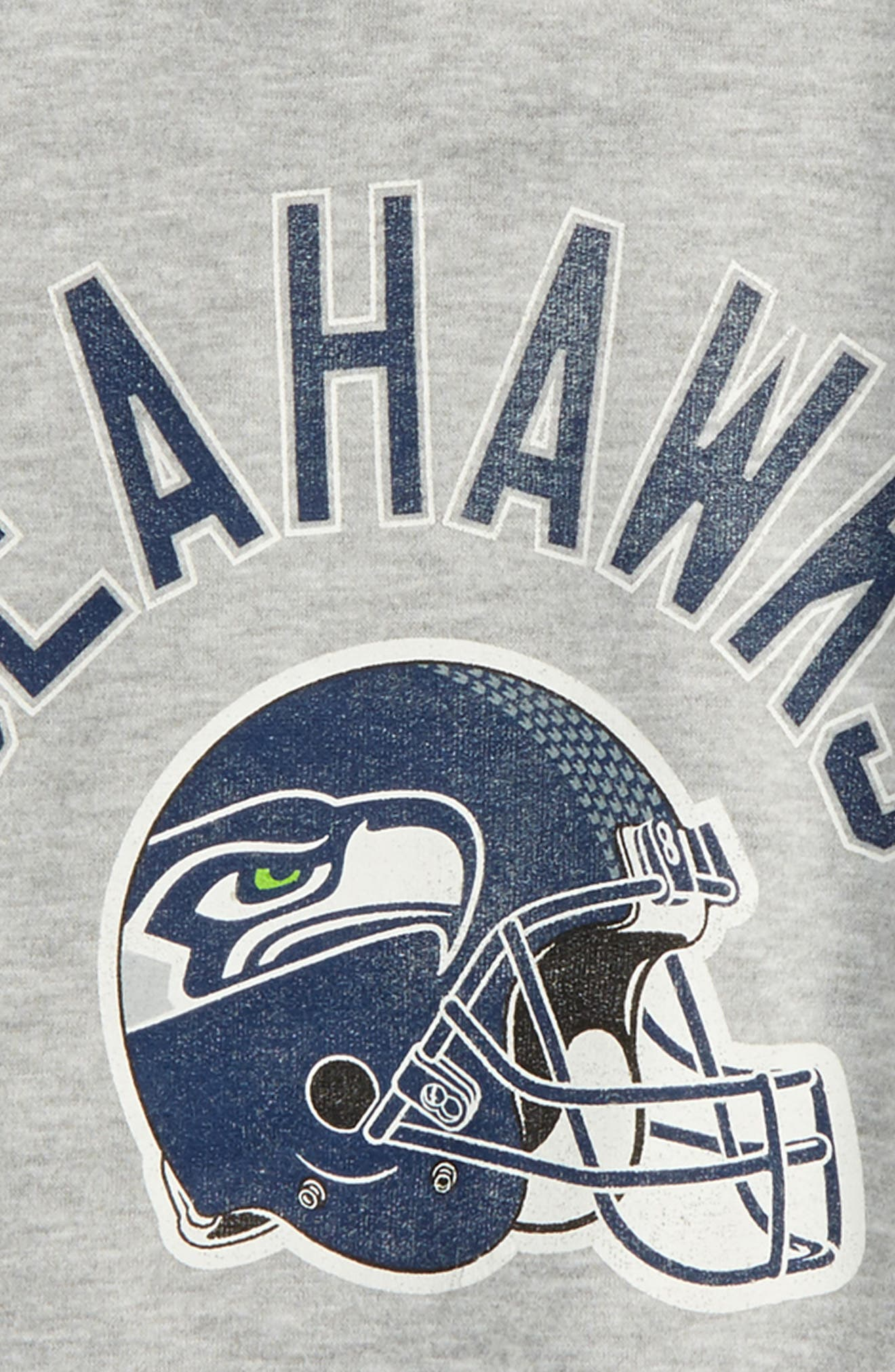 NFL Seattle Seahawks Pullover Hoodie,                             Alternate thumbnail 2, color,                             Heather Grey