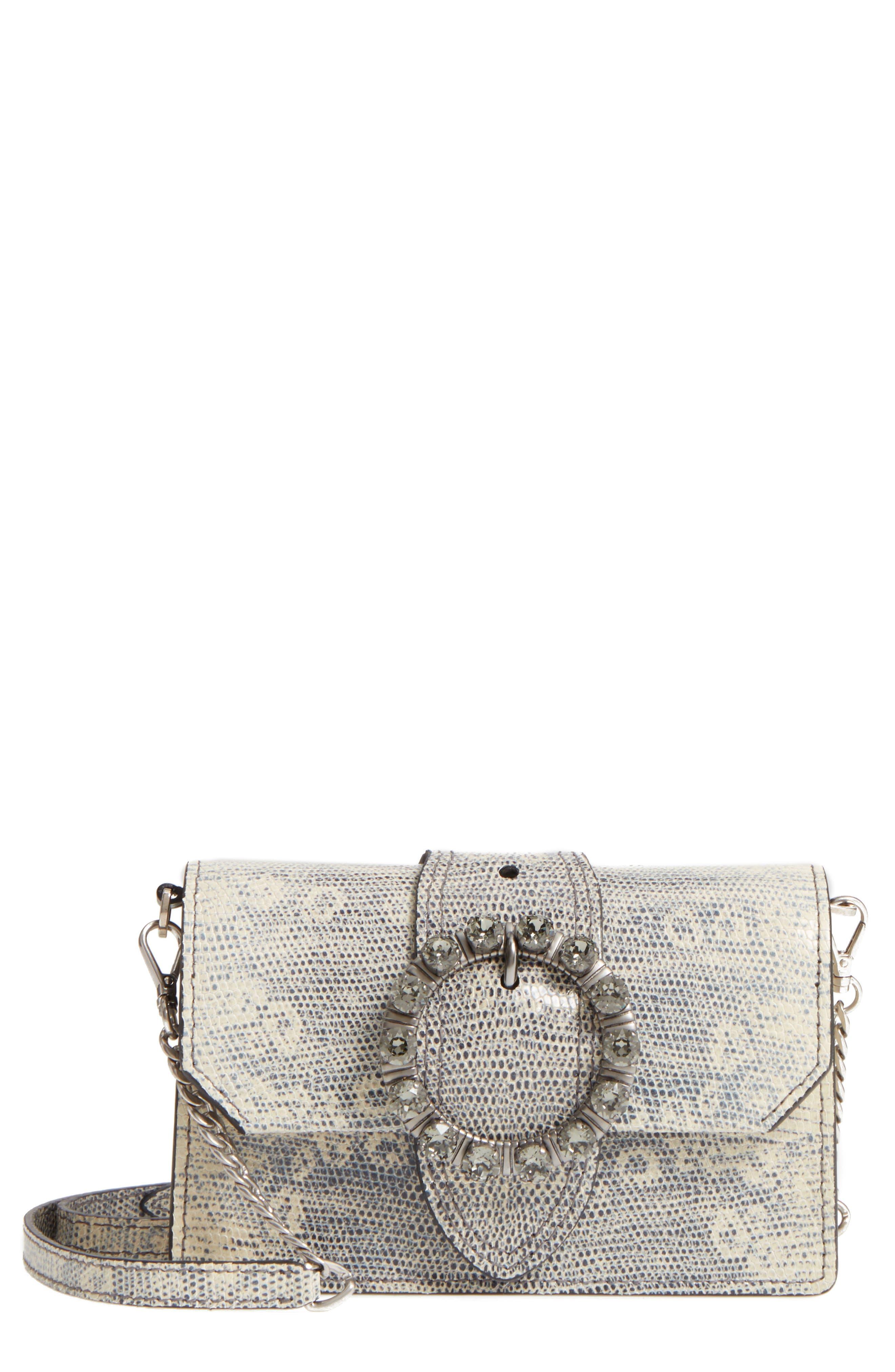 Alternate Image 1 Selected - Miu Miu Lizard Embossed Leather Crossbody Bag