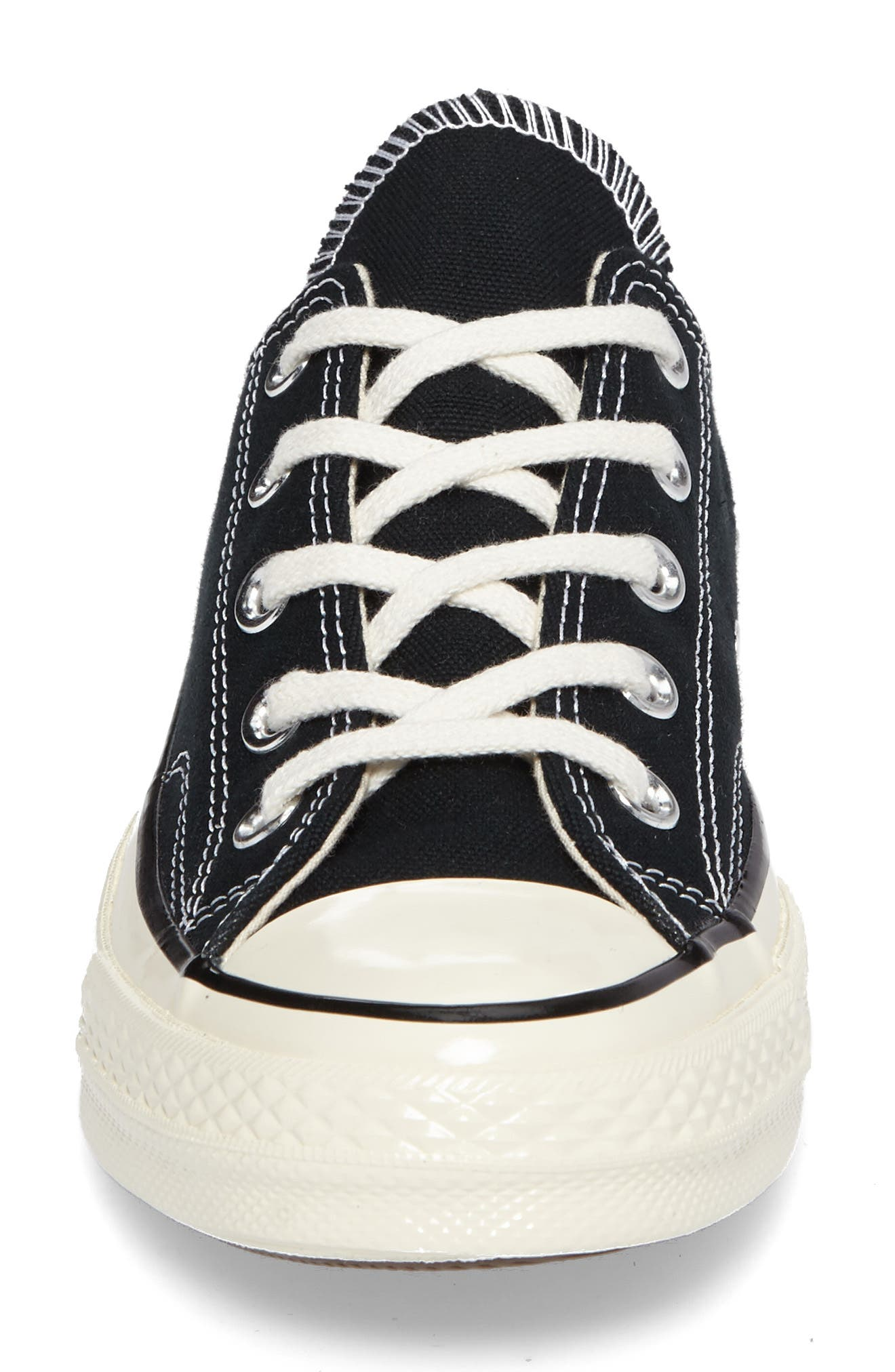 Chuck Taylor<sup>®</sup> All Star<sup>®</sup> Ox Low Top Sneaker,                             Alternate thumbnail 4, color,                             Black