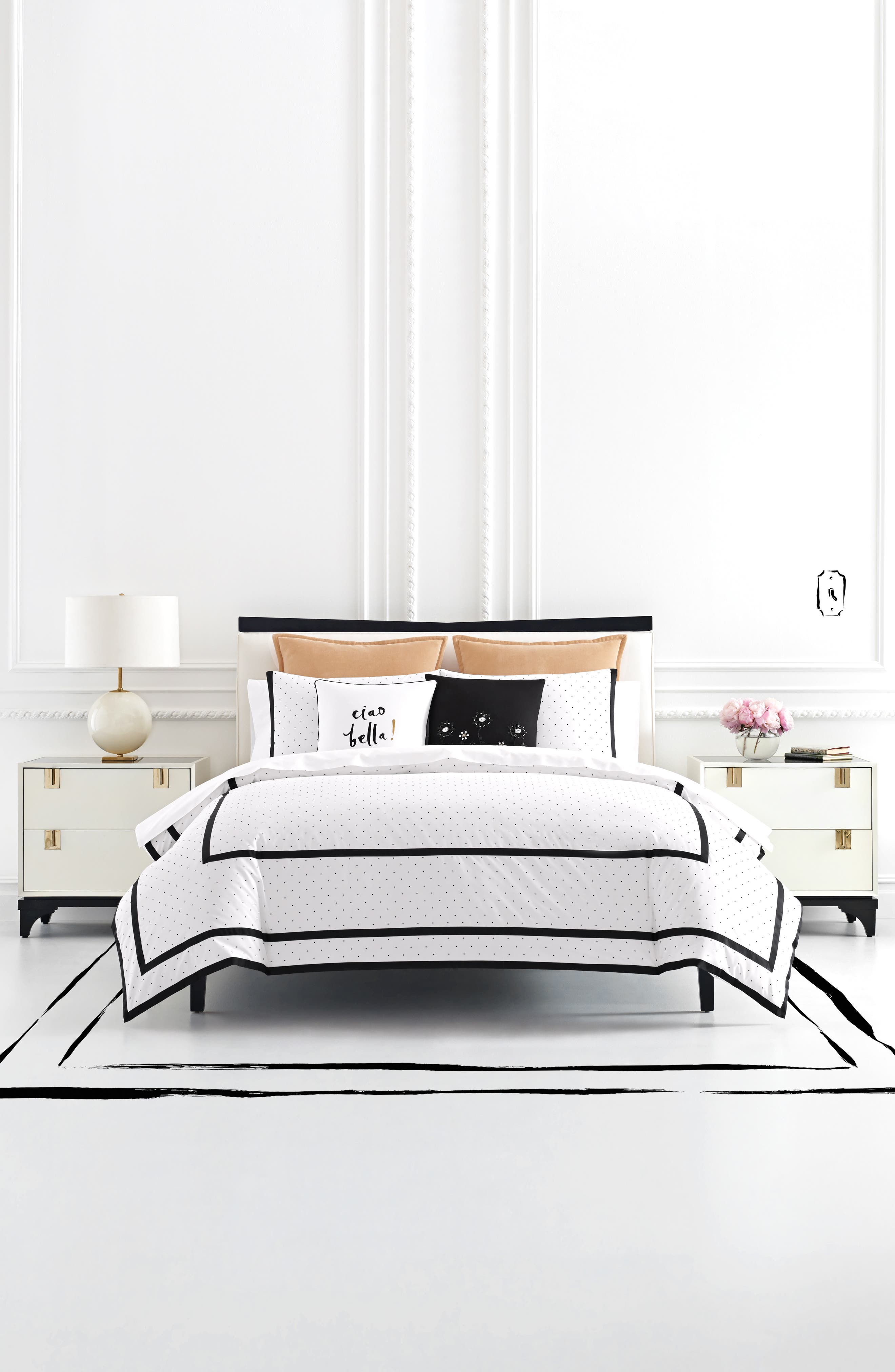 kate spade new york dot frame duvet cover & sham set