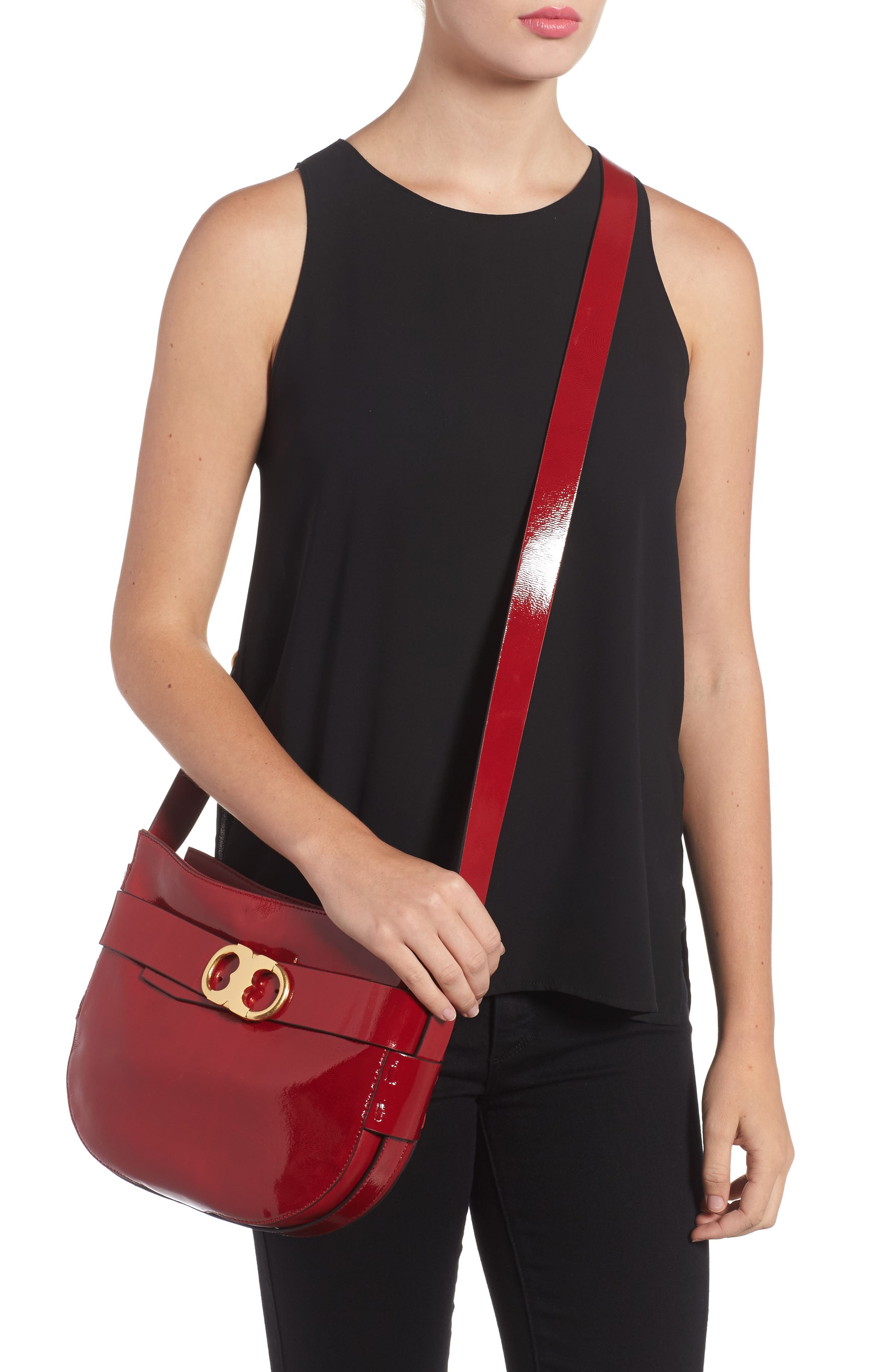 Alternate Image 6  - Tory Burch Gemini Link Patent Leather Crossbody Bag