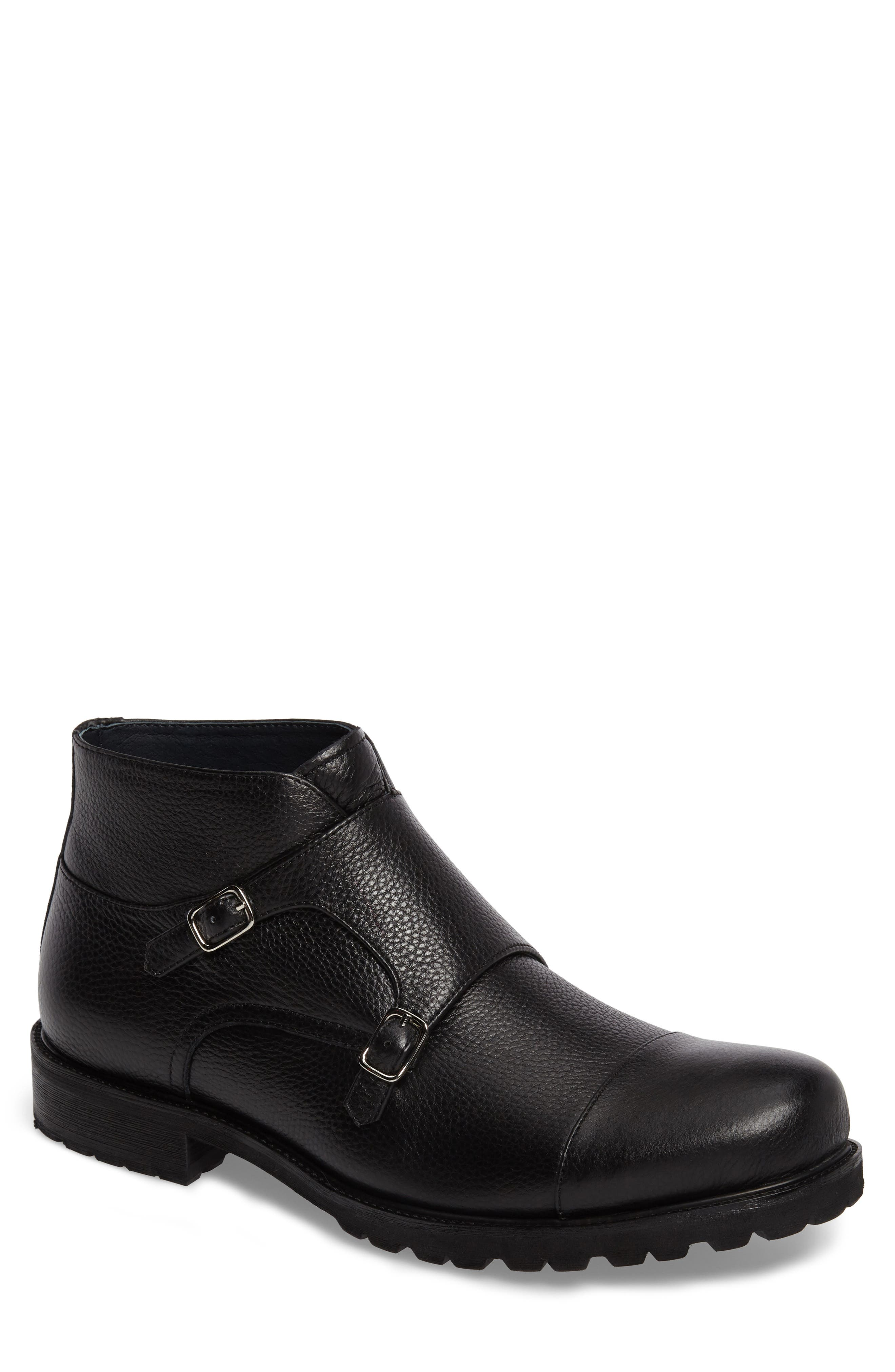 Zanzara Koller Cap Toe Double Monk Boot (Men)