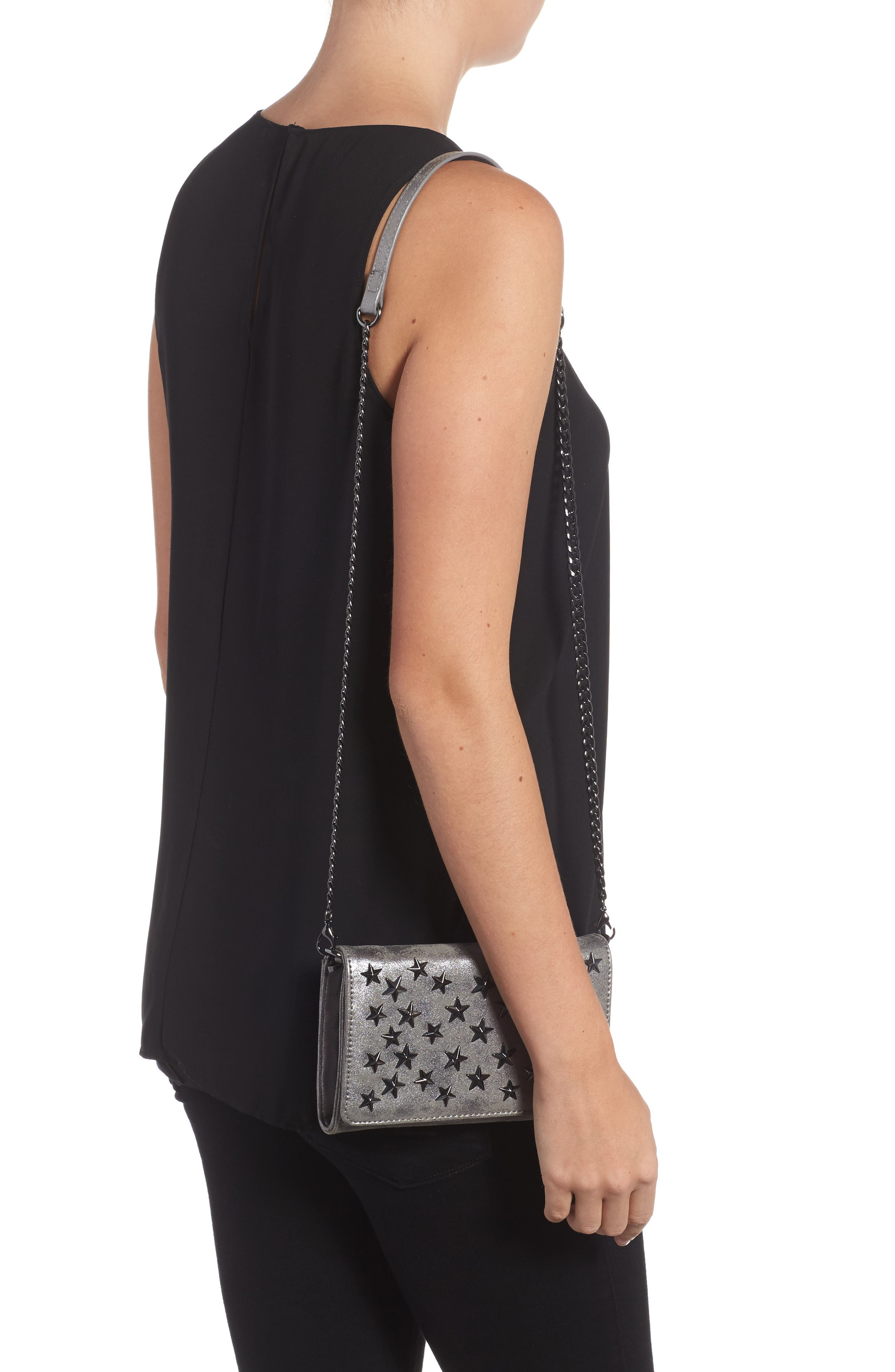 Alternate Image 2  - Chelsea28 Alexa Stars Faux Leather Wallet on a Chain