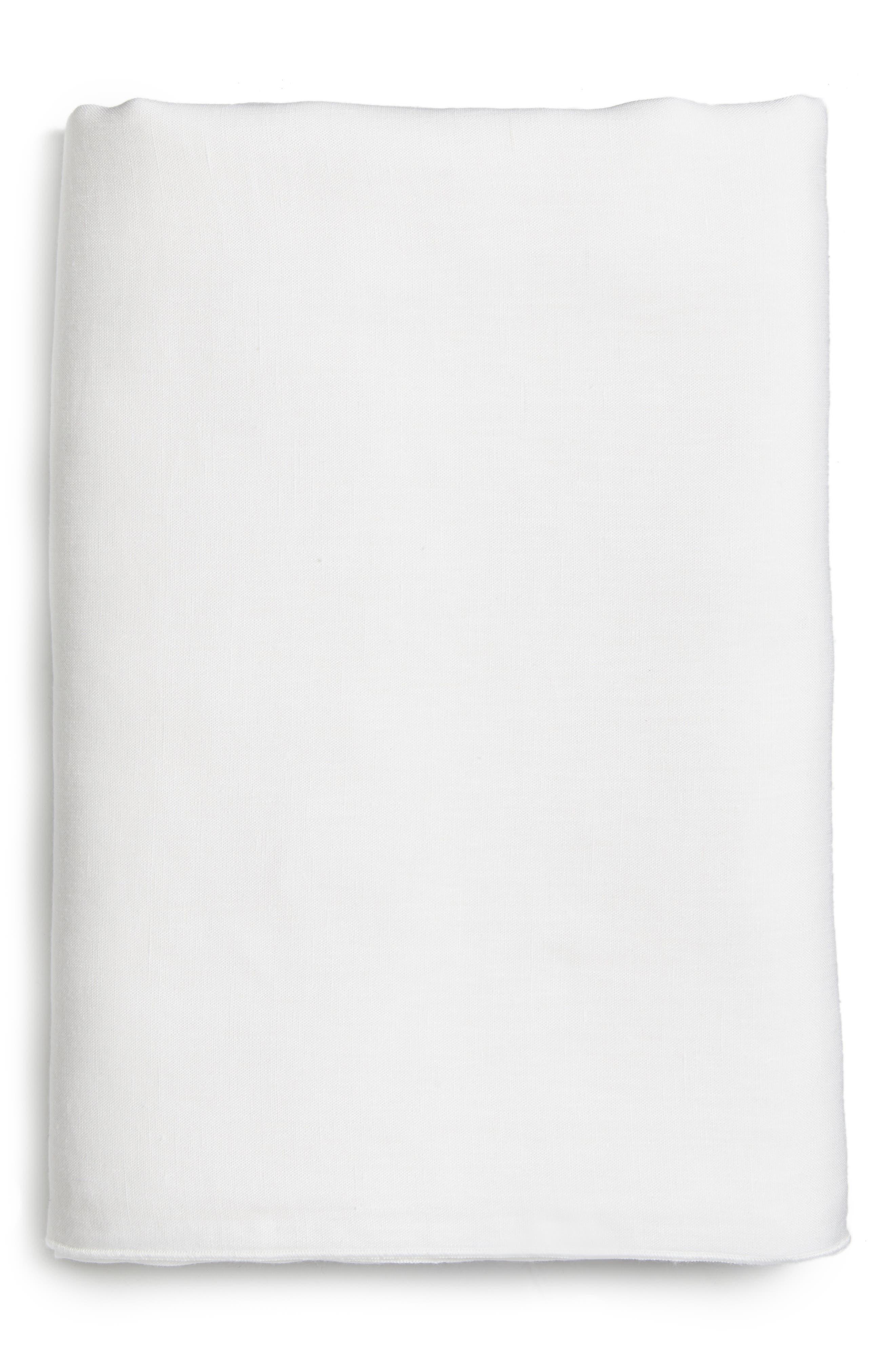 Main Image - Calvin Klein Home Solo Linen Flat Sheet