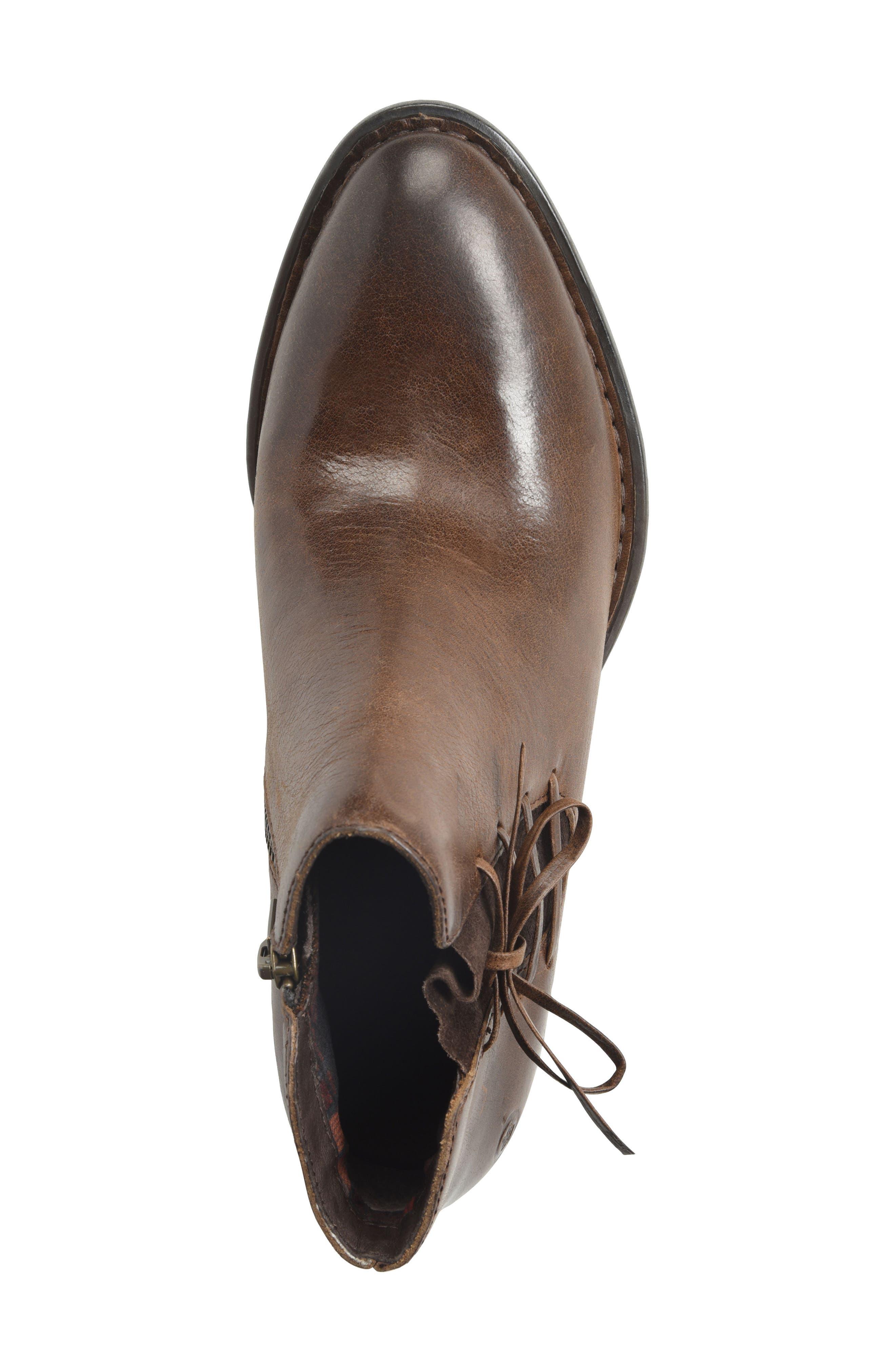 Bowlen Bootie,                             Alternate thumbnail 5, color,                             Brown Leather