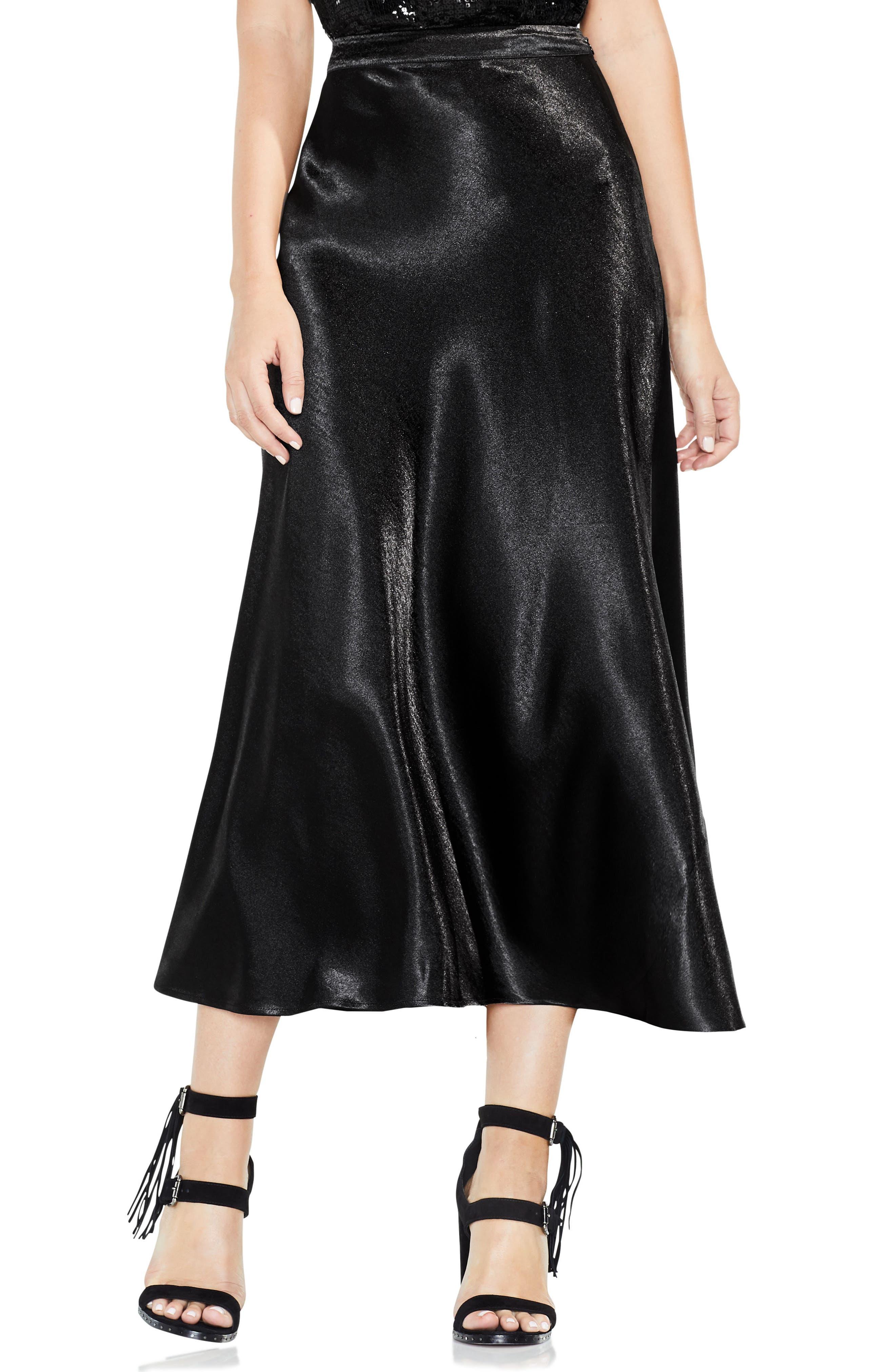 Main Image - Vince Camuto Hammered Satin Maxi Skirt