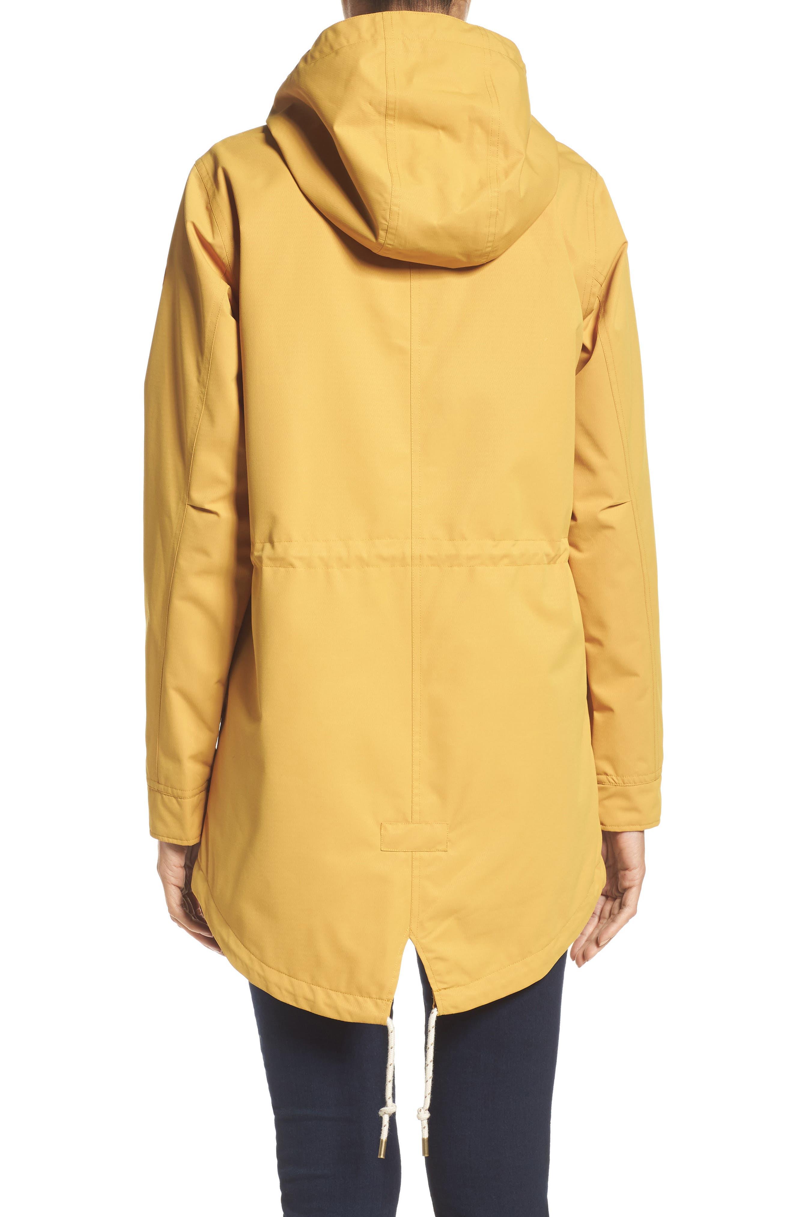 Sadie Waterproof Hooded Jacket,                             Alternate thumbnail 2, color,                             Harvest Gold