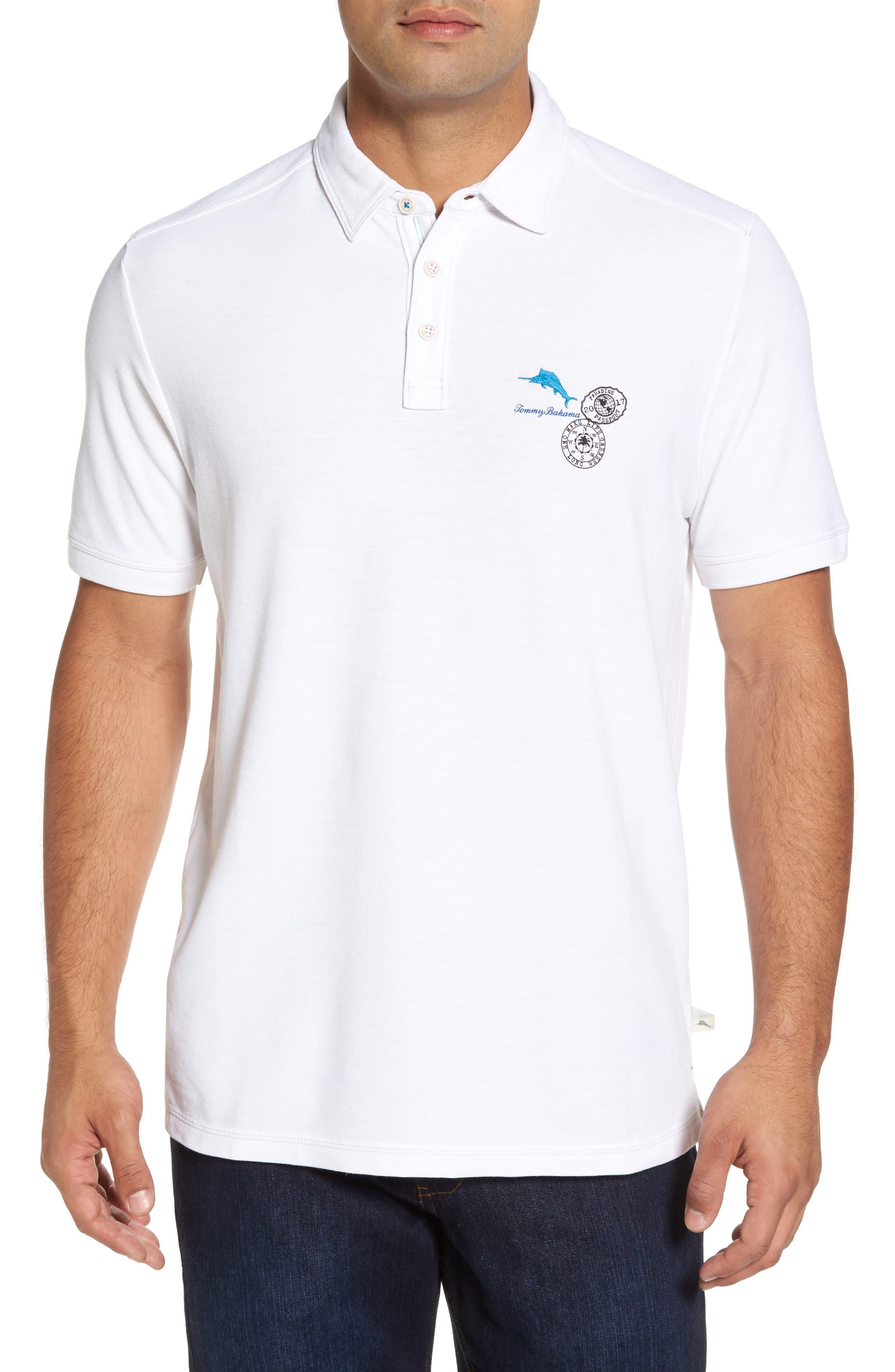 Main Image - Tommy Bahama Logo Palms Piqué Polo
