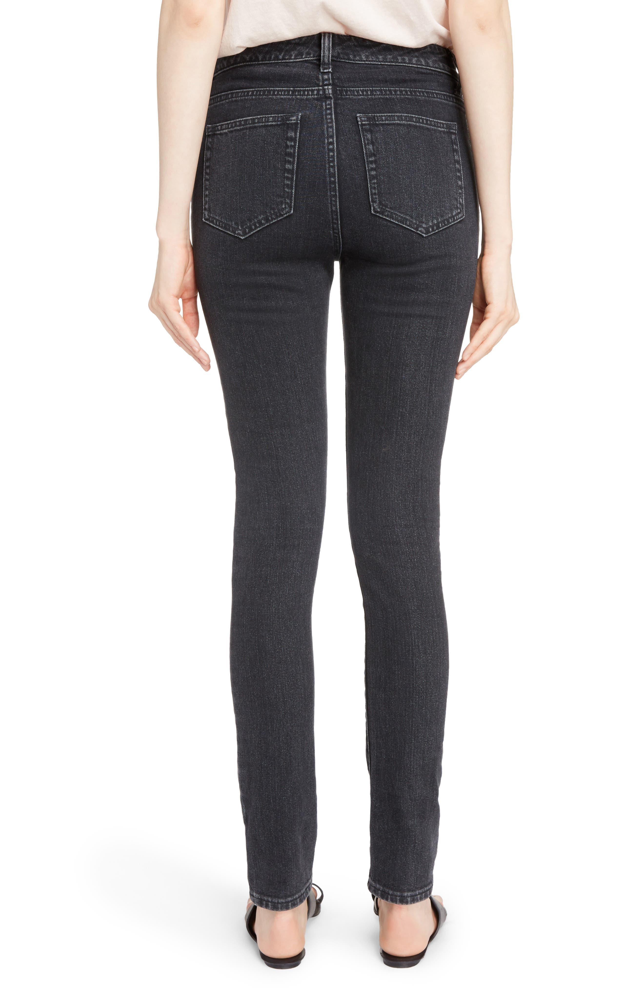 Skinny Stretch Jeans,                             Alternate thumbnail 2, color,                             Black Stonewash
