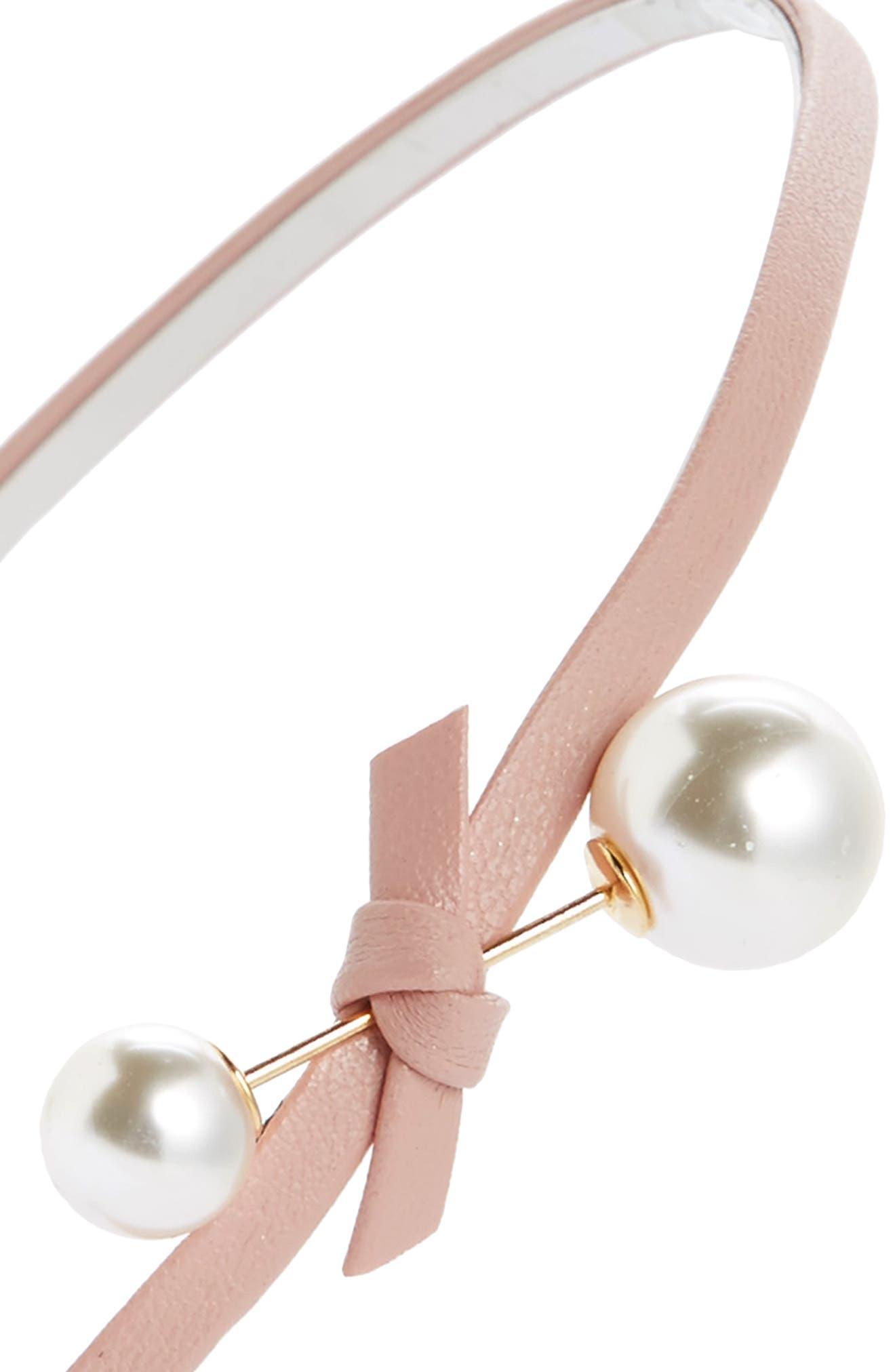 Alternate Image 2  - Cara Imitation Pearl & Bow Headband