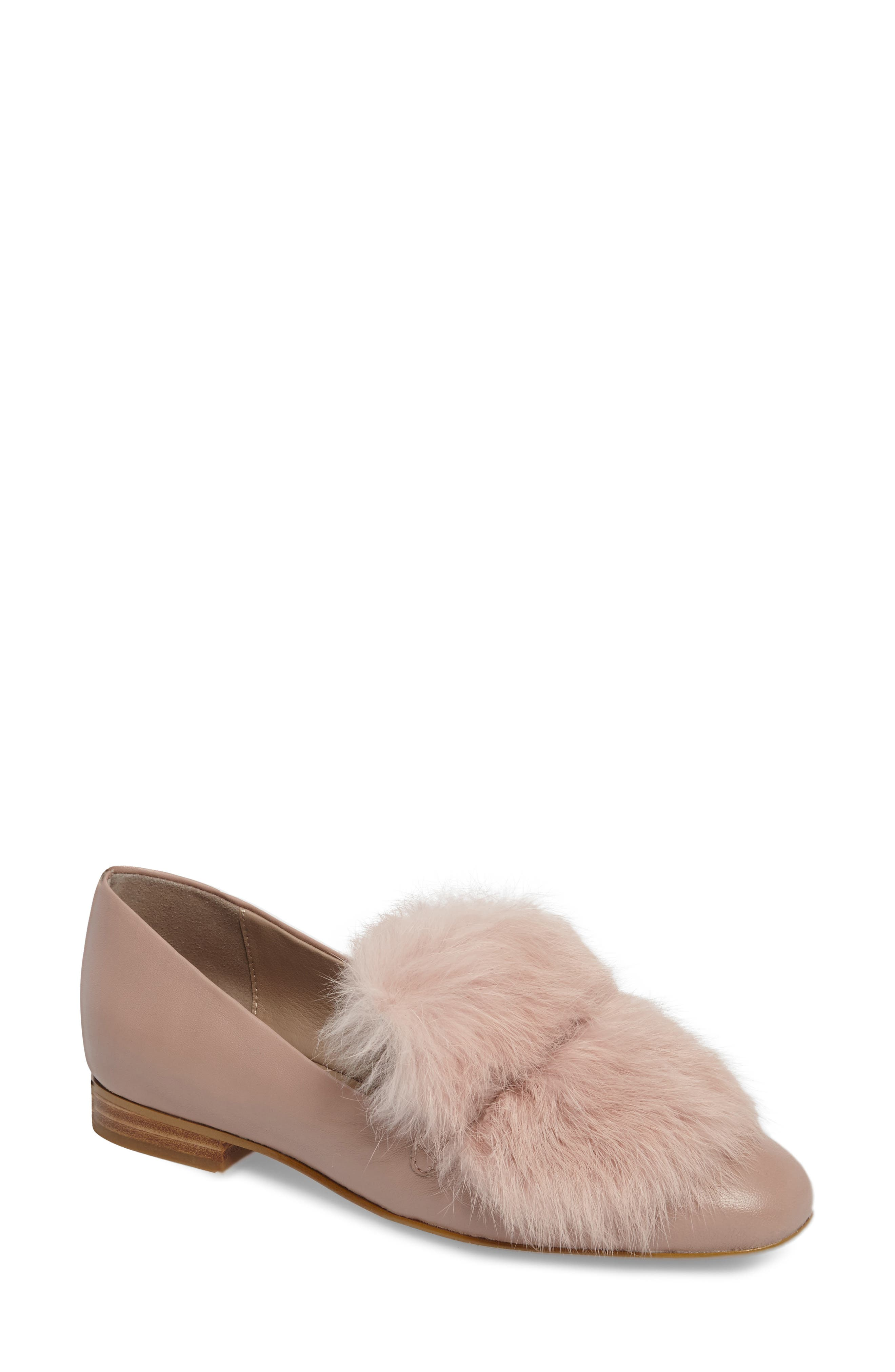 Donald J Pliner Lillian Genuine Rabbit Fur Loafer (Women)