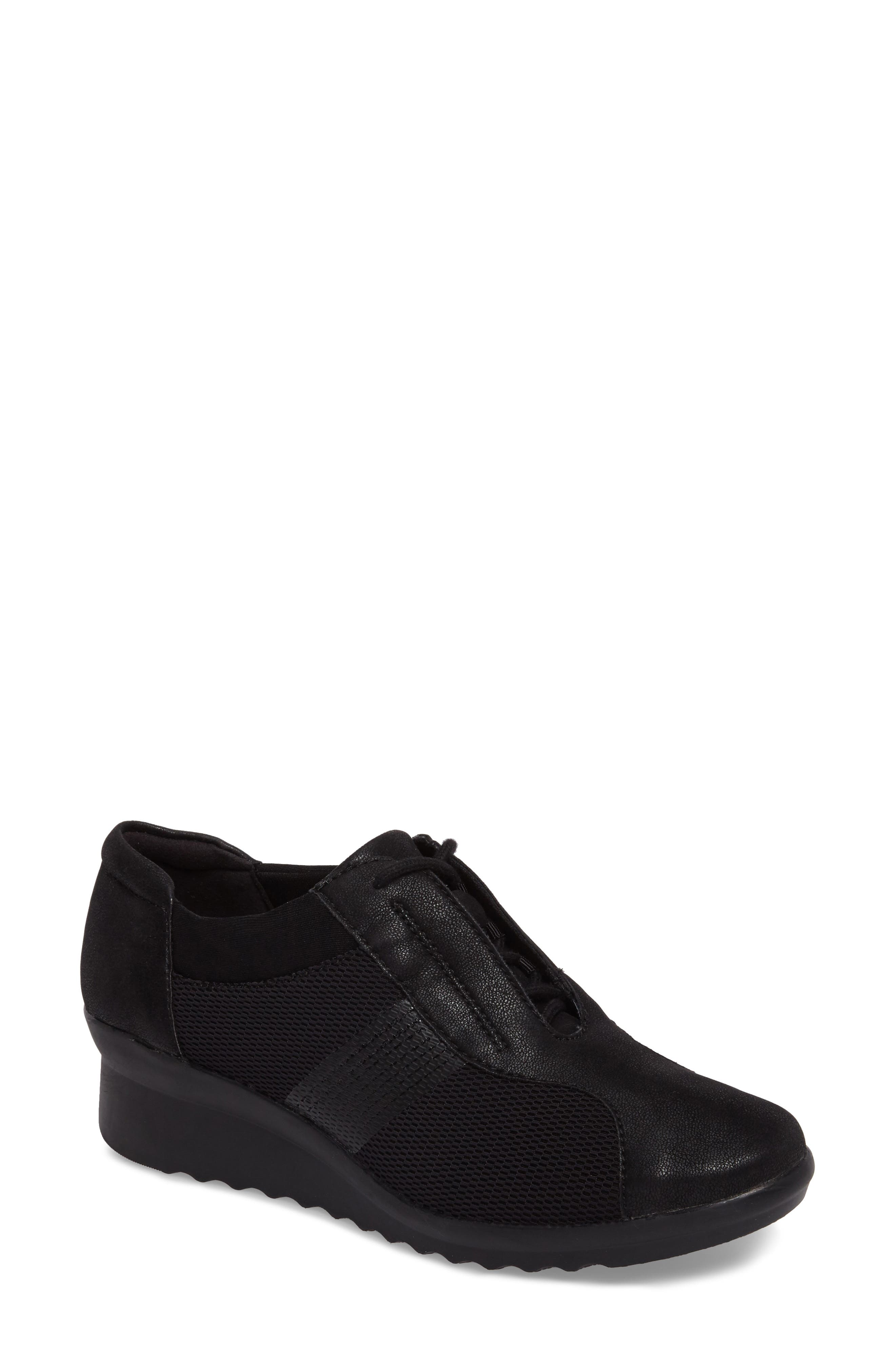 Caddell Fly Sneaker,                         Main,                         color, Black Fabric
