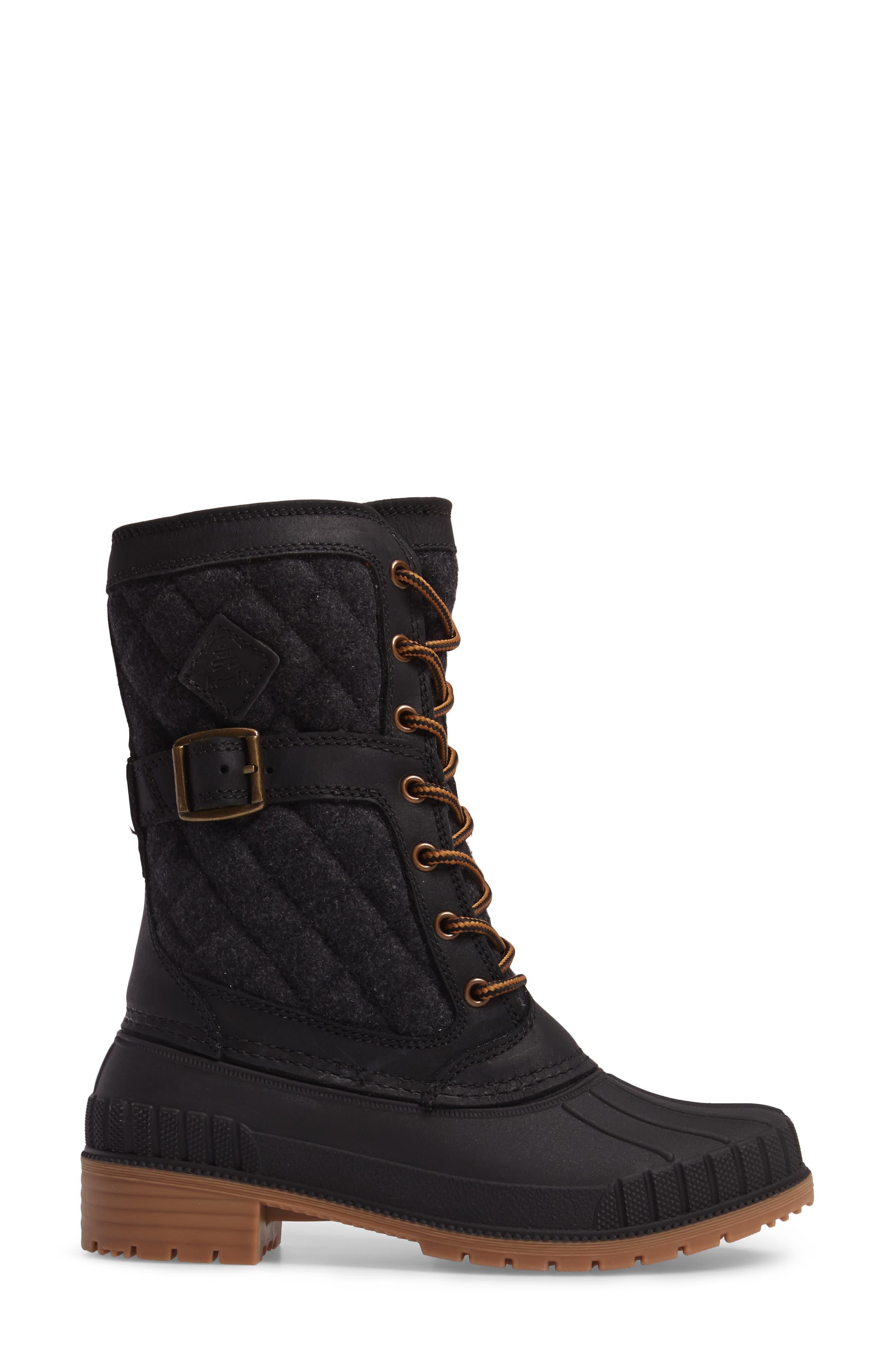 Sienna Boot,                             Alternate thumbnail 3, color,                             Black Fabric