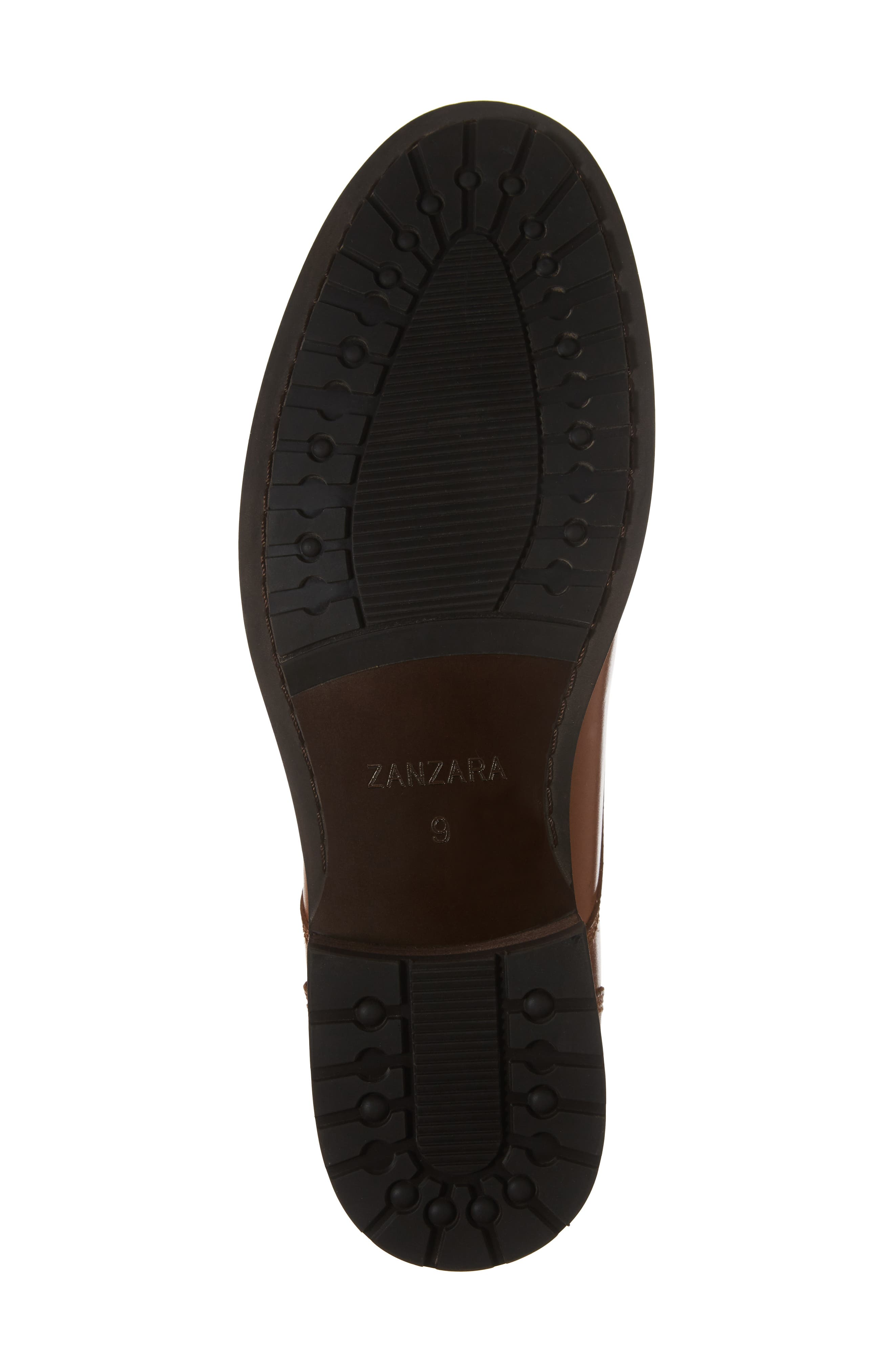 Saar Plain Toe Boot,                             Alternate thumbnail 6, color,                             Cognac Leather
