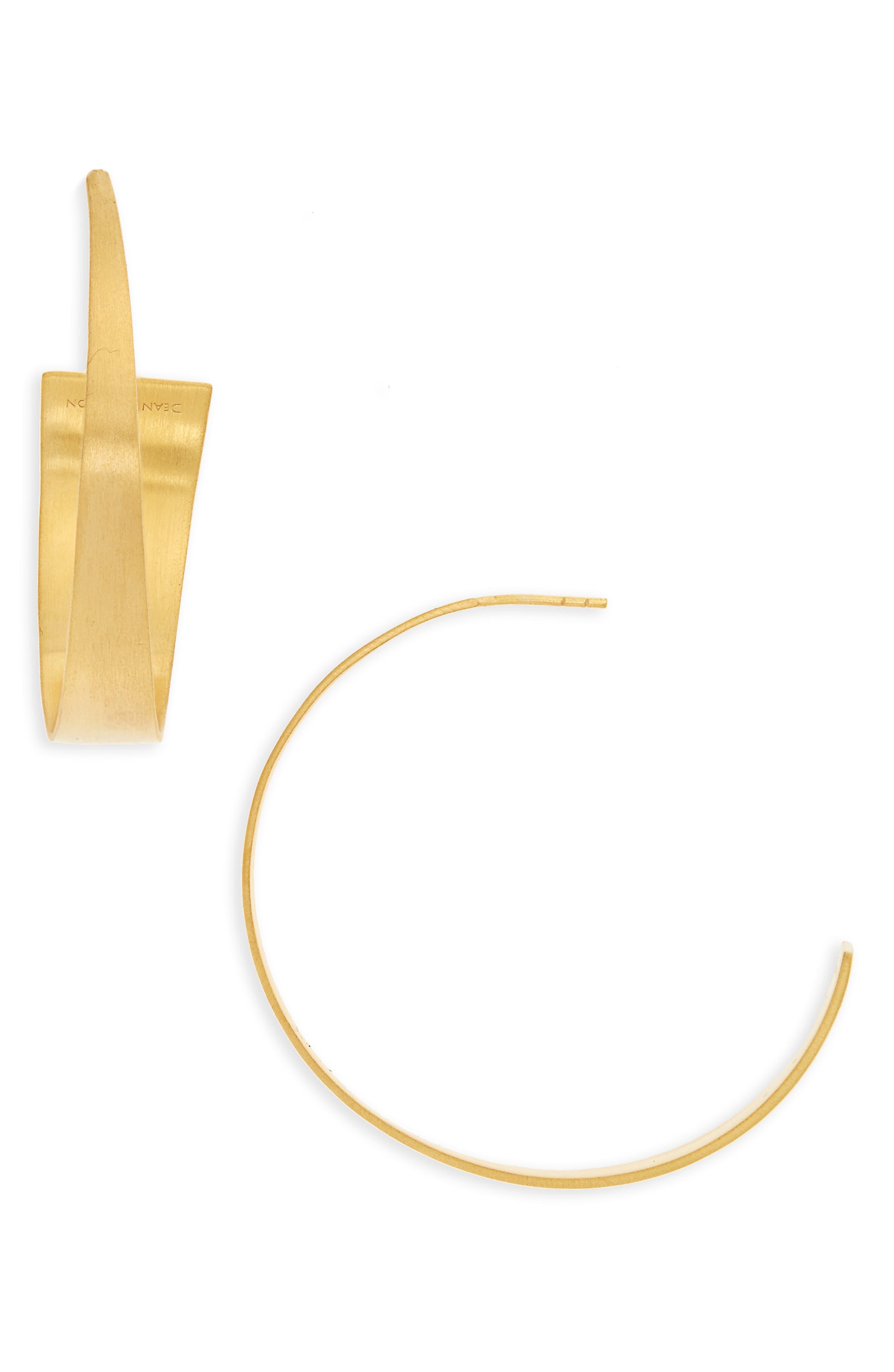 Bossa Hoop Earrings,                         Main,                         color, Gold