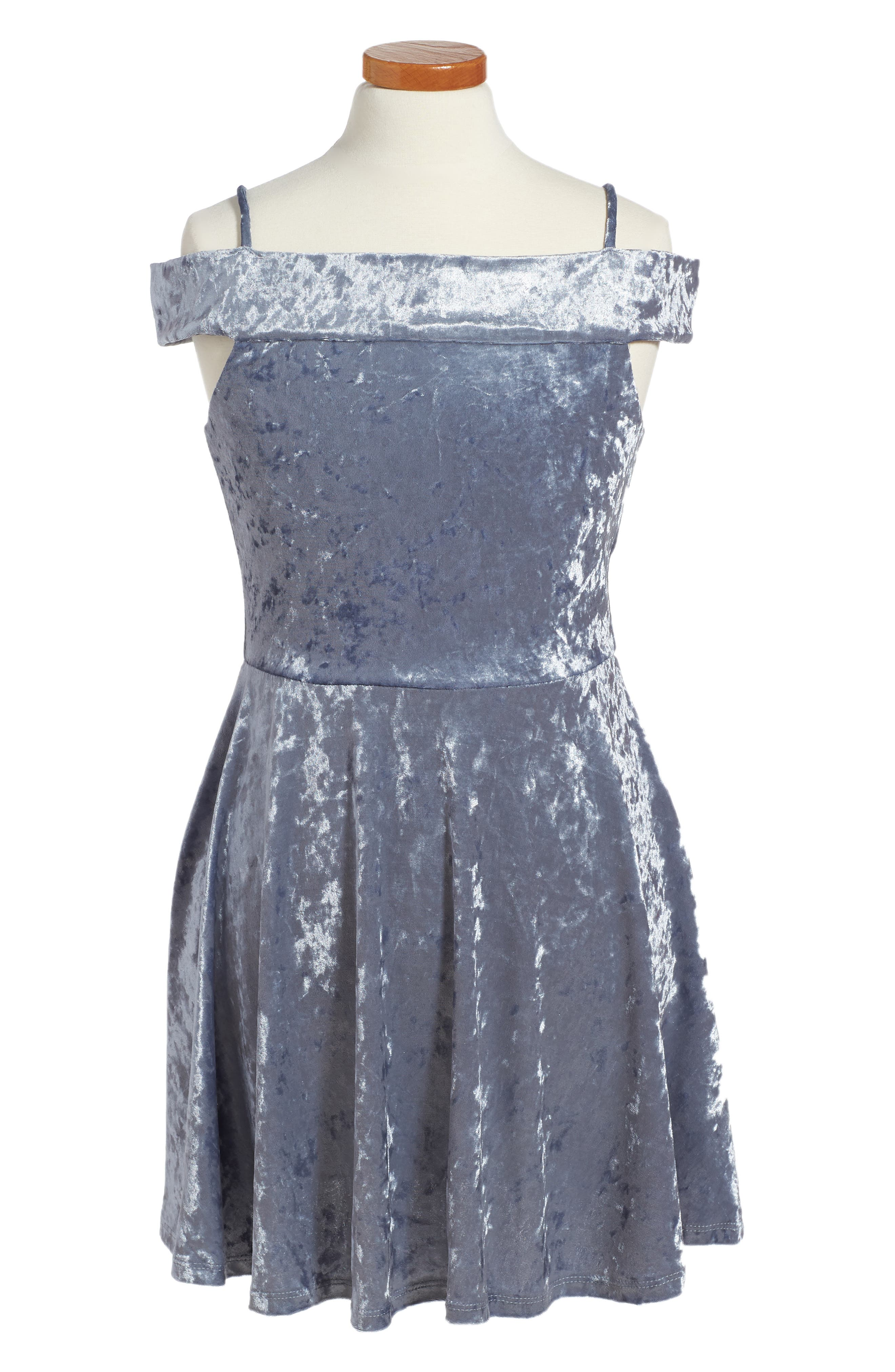 Ava & Yelly Marilyn Velvet Skater Dress (Big Girls)