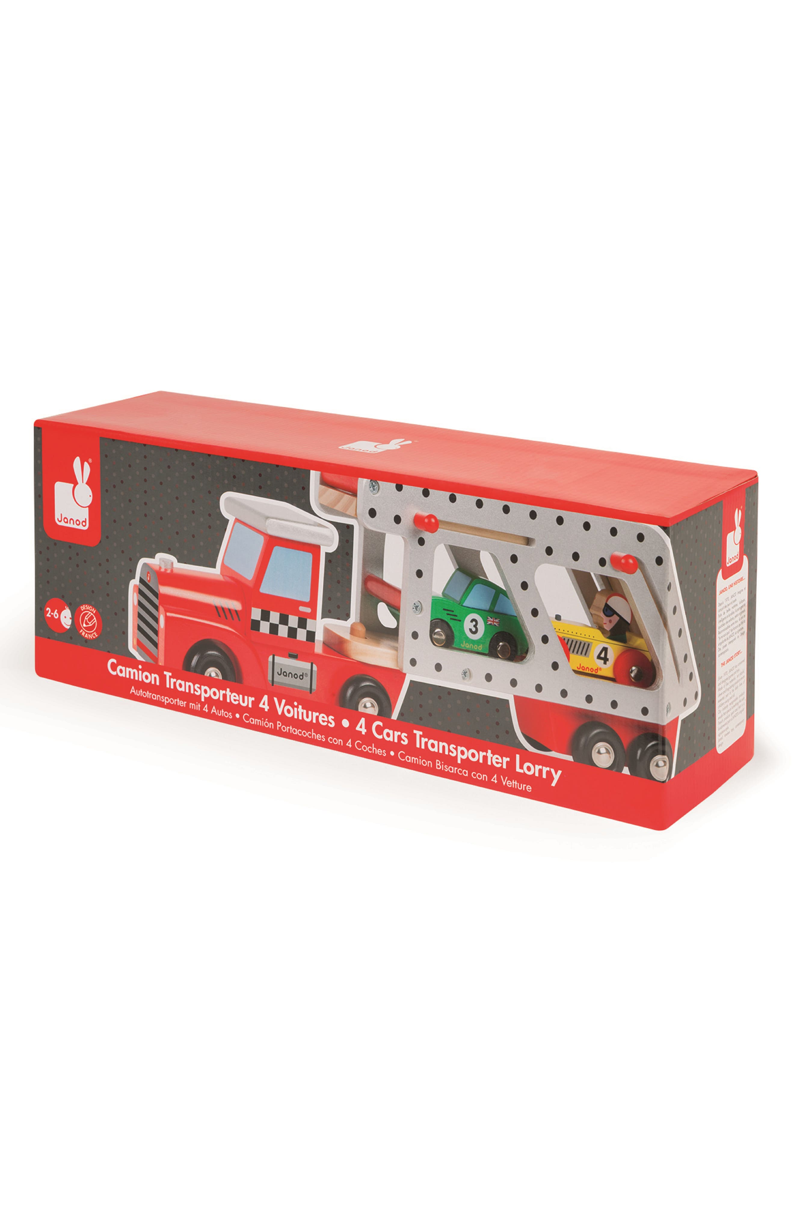 Car Transporter Wood Toy,                             Alternate thumbnail 3, color,                             Multi