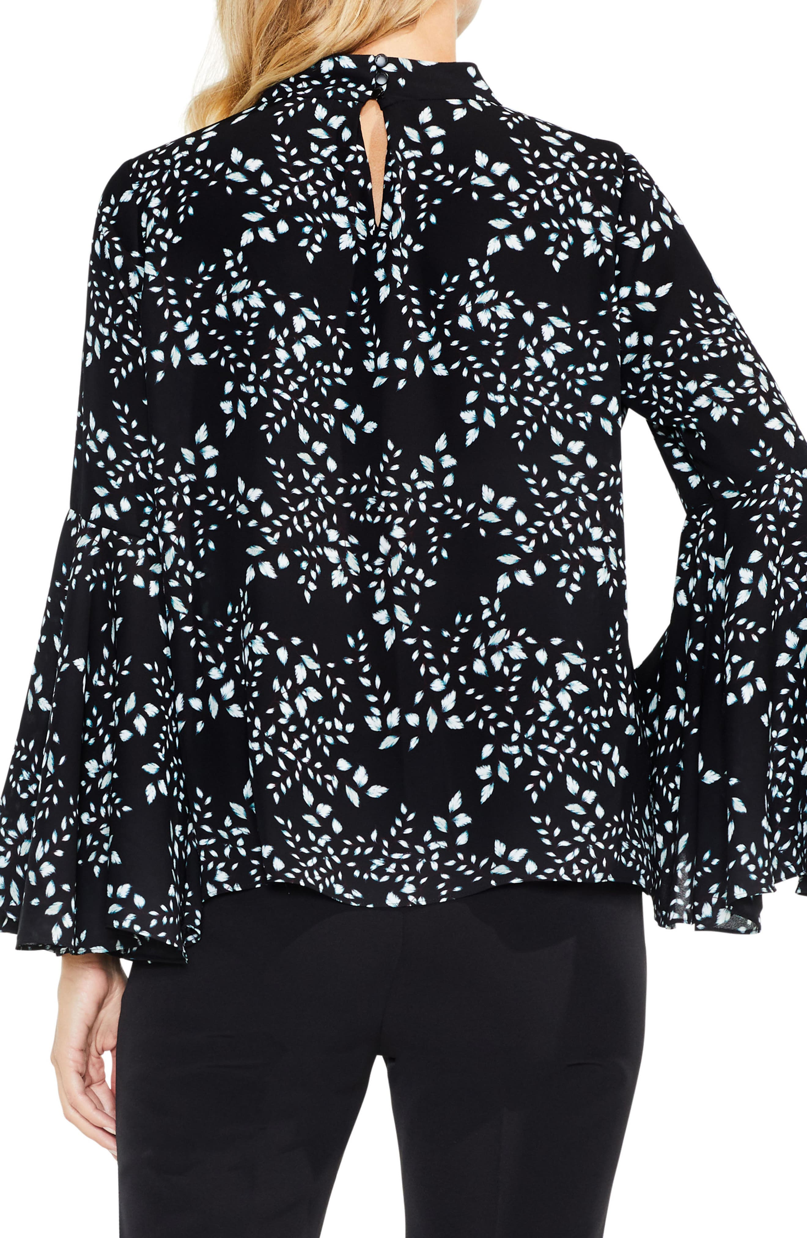 Alternate Image 2  - Vince Camuto Cascading Leaves Bell Sleeve Blouse