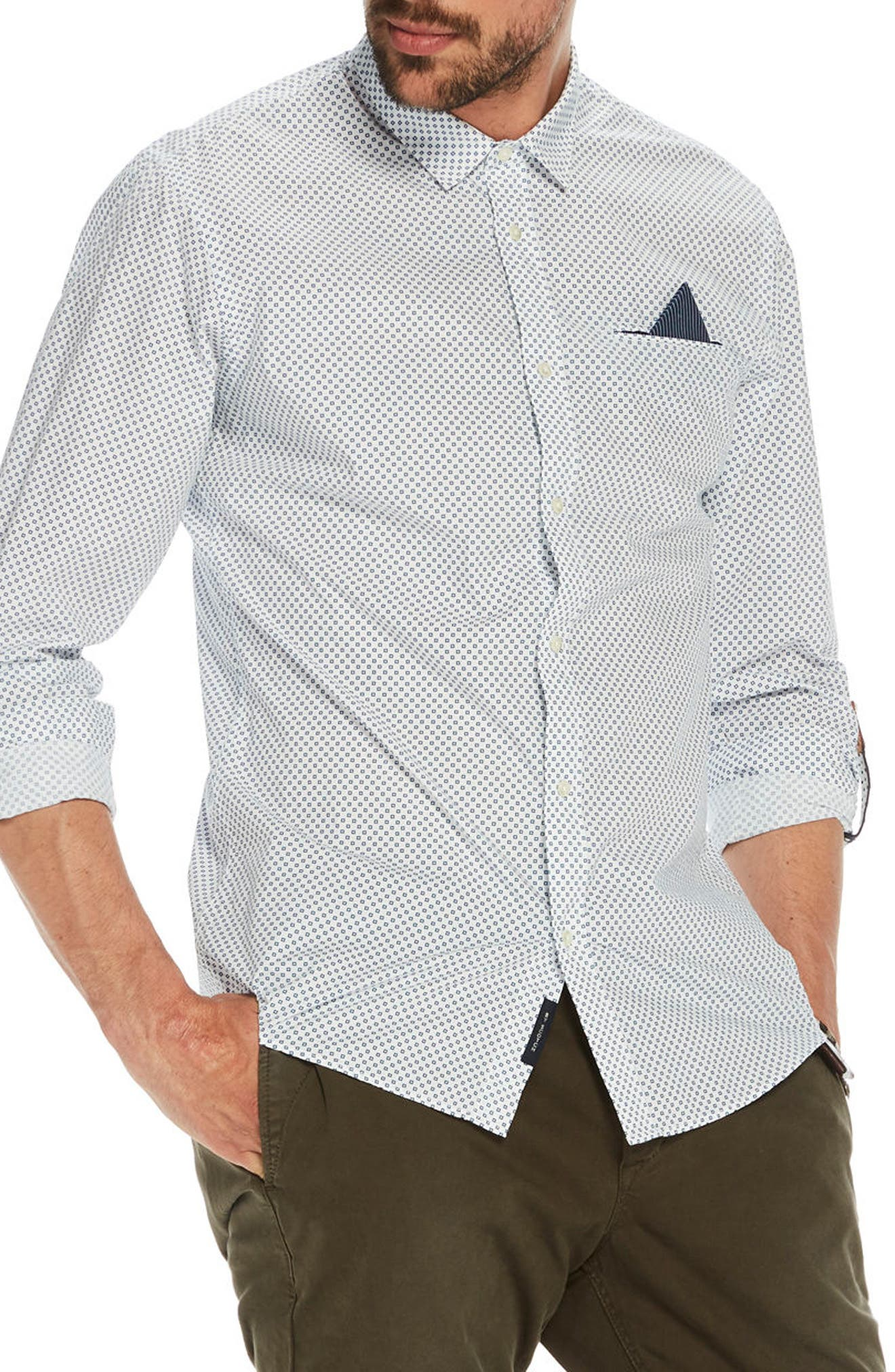Classic Woven Shirt,                         Main,                         color, White