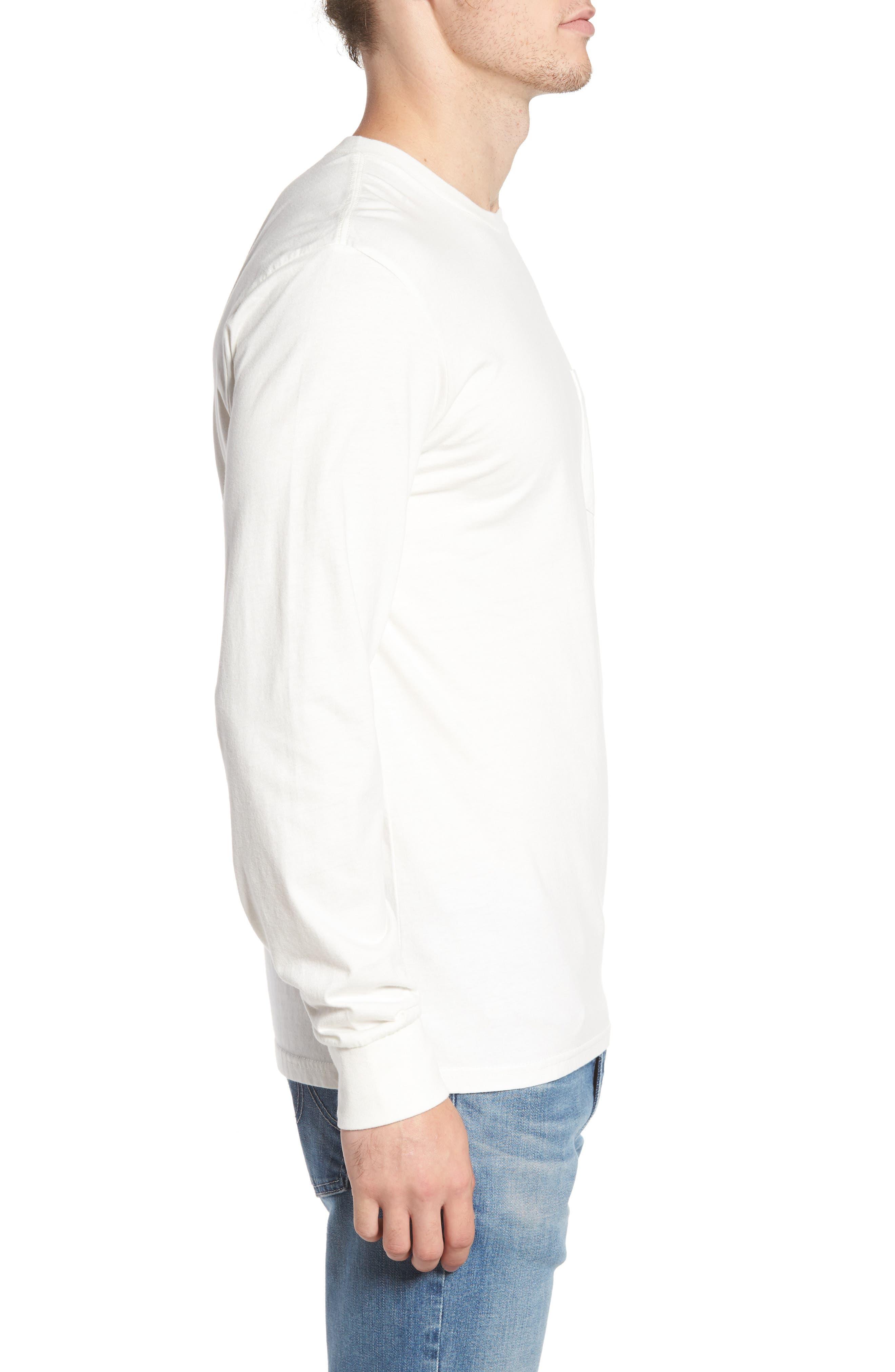 Pocket T-Shirt,                             Alternate thumbnail 3, color,                             Off White