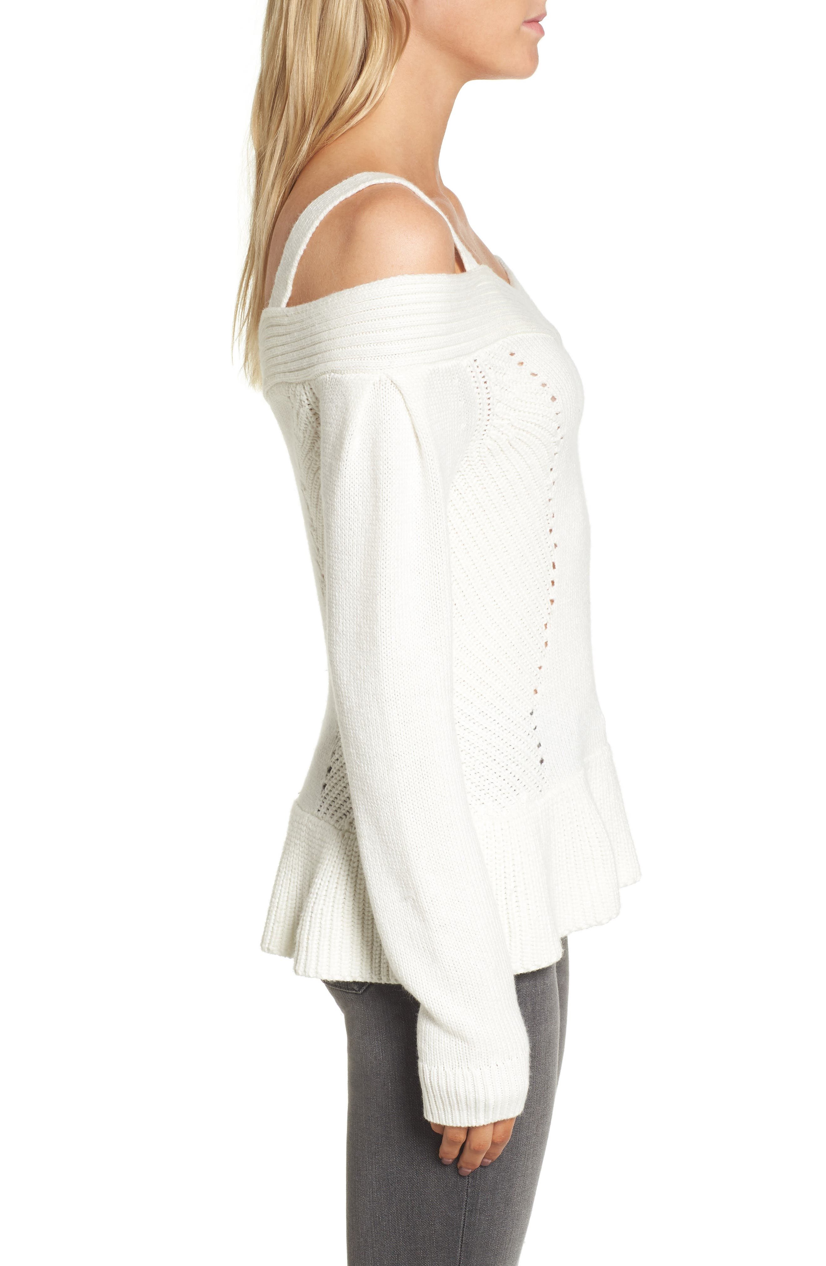 Alternate Image 3  - Chelsea 28 Cold Shoulder Sweater