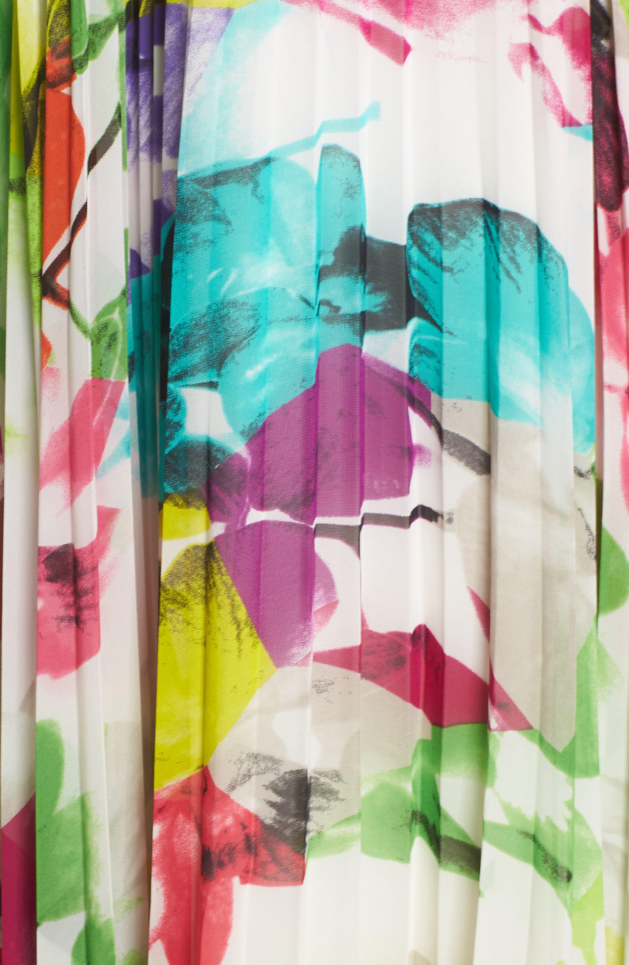 Alternate Image 5  - Eliza J Print Chiffon Halter Maxi Dress