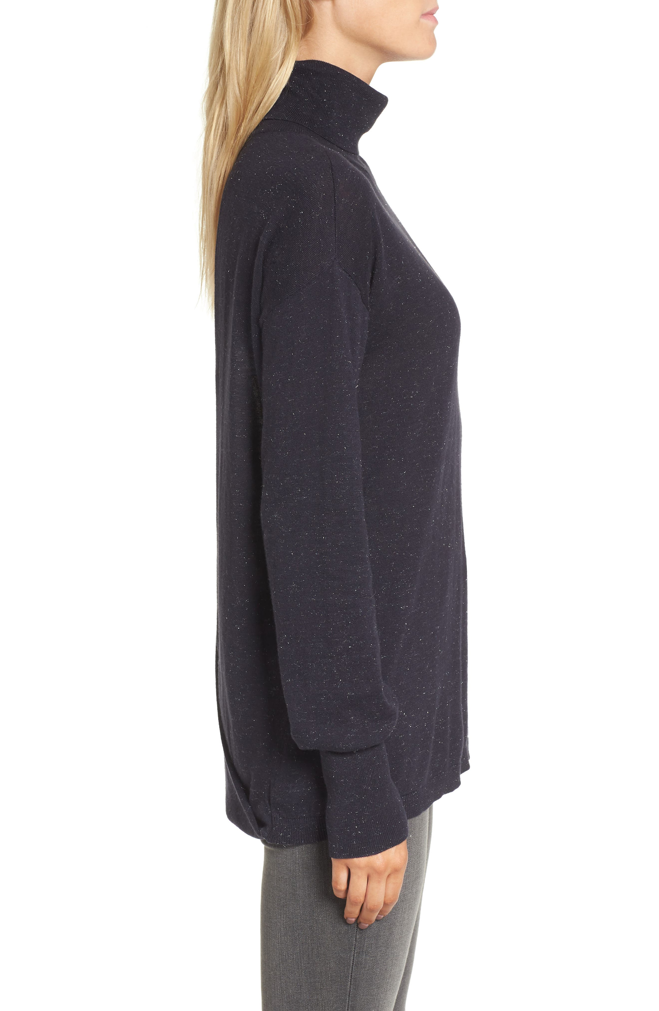 Open Back Sweater,                             Alternate thumbnail 3, color,                             Navy Well