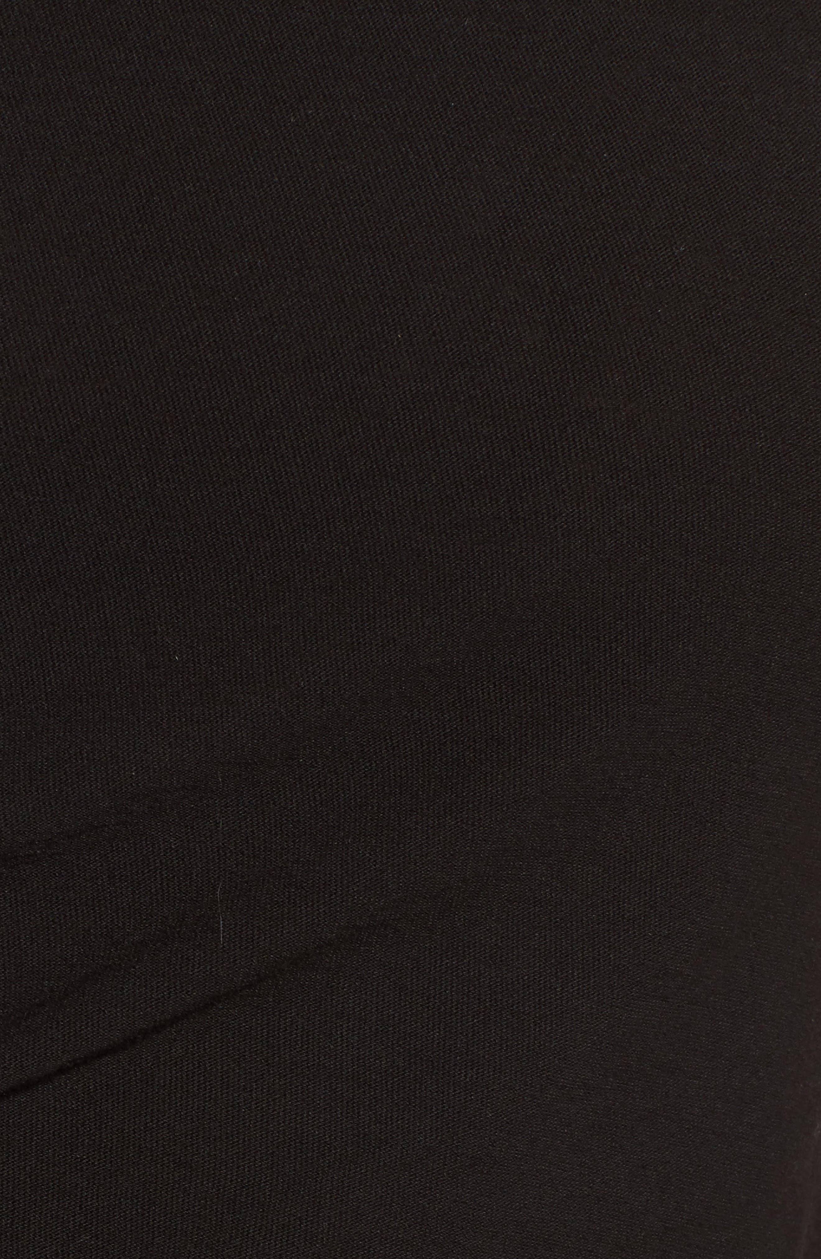 Spiral Shirred Sheath Dress,                             Alternate thumbnail 5, color,                             Black
