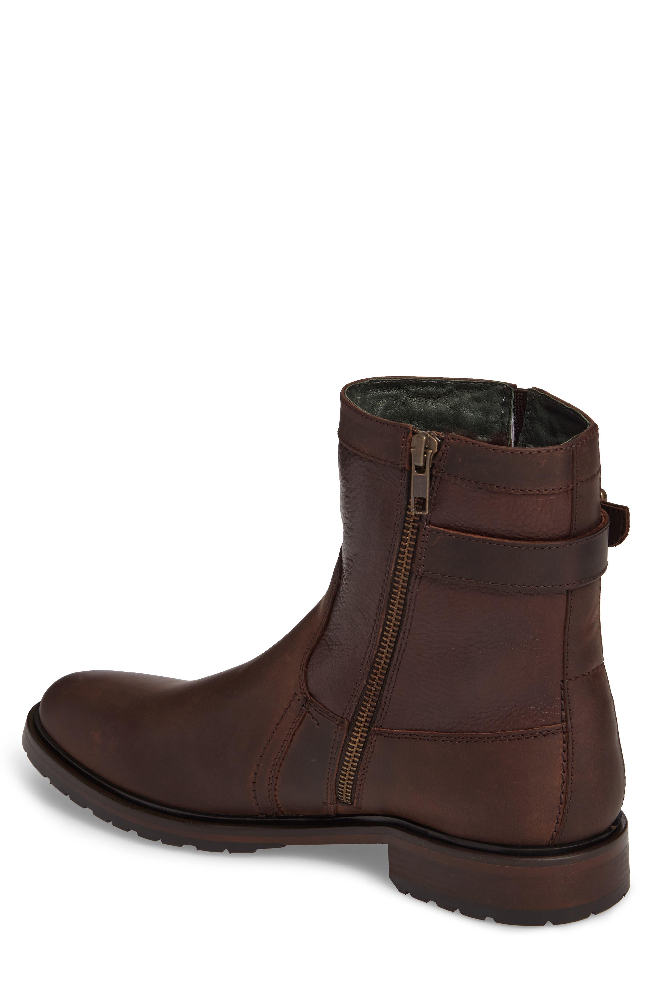 Myles Zip Boot,                             Alternate thumbnail 2, color,                             Dark Brown Leather
