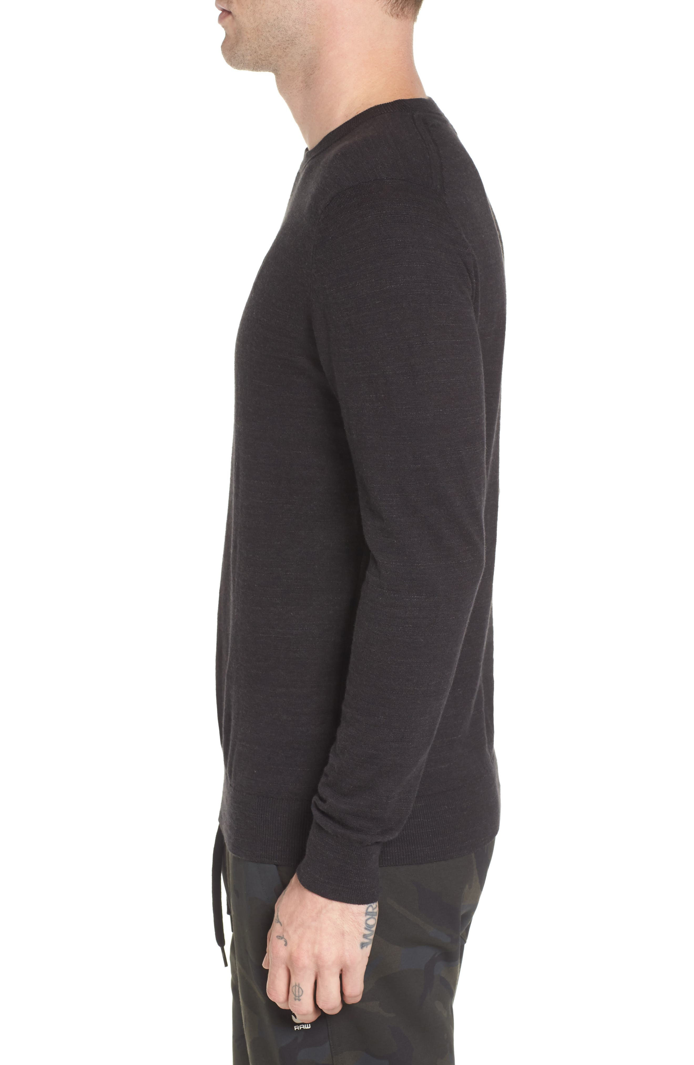 Core Sweater,                             Alternate thumbnail 3, color,                             Dark Black Heather