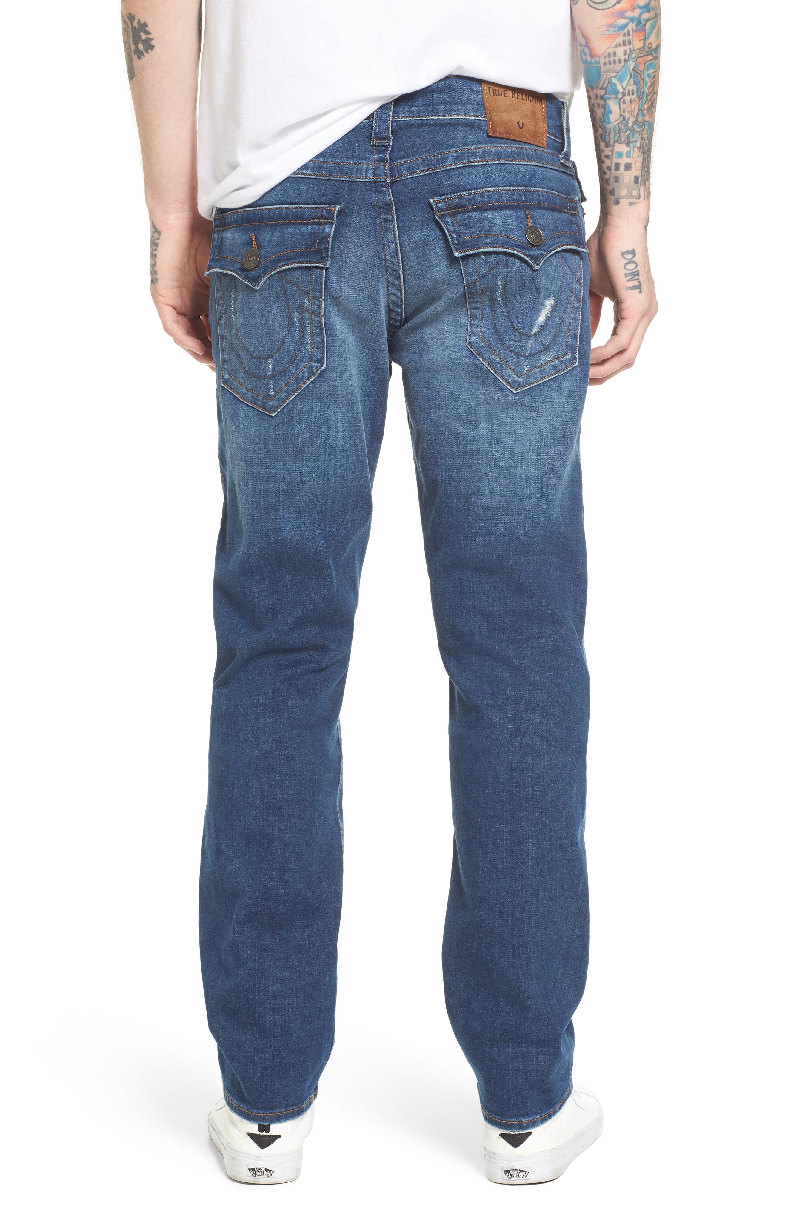 Alternate Image 2  - True Religion Brand Jeans Geno Straight Leg Jeans (Street Vice)