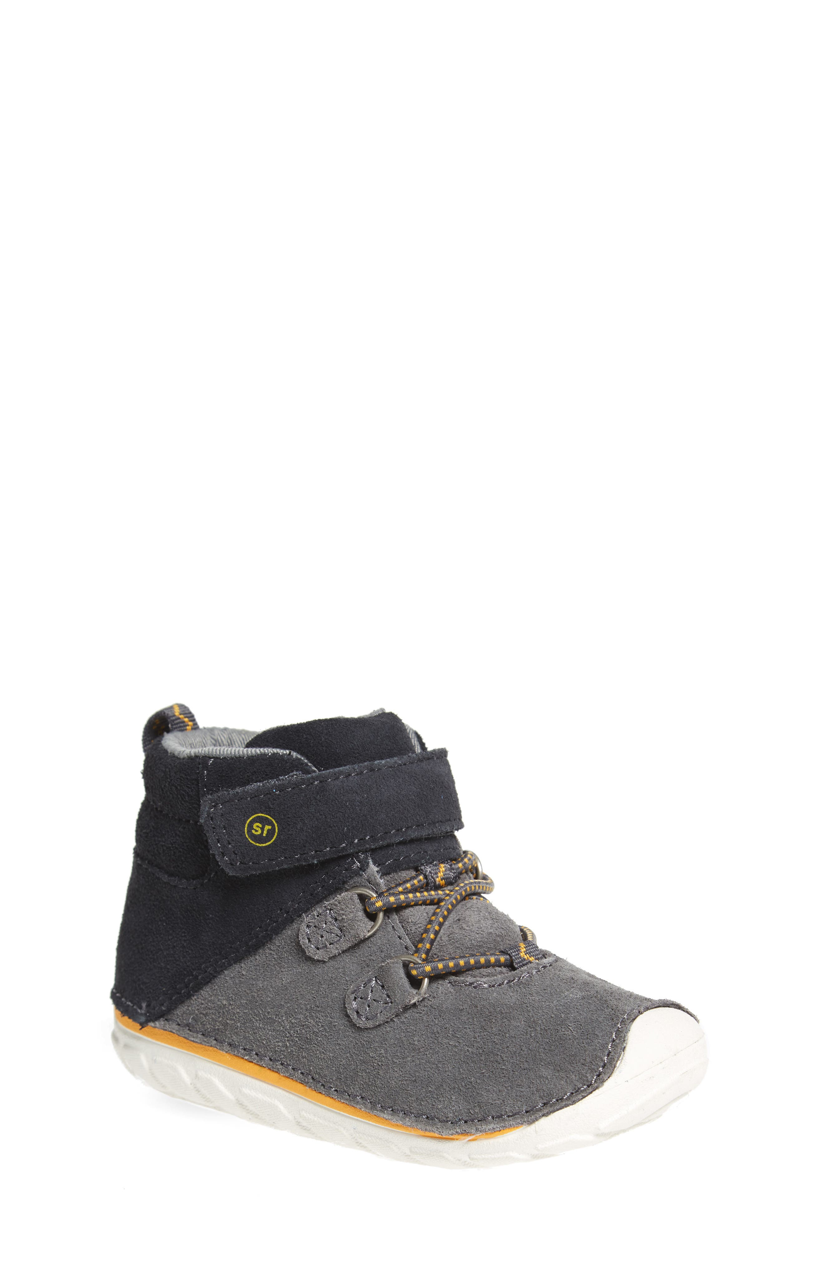 Soft Motion<sup>™</sup> Oliver High Top Sneaker,                         Main,                         color, Grey Suede