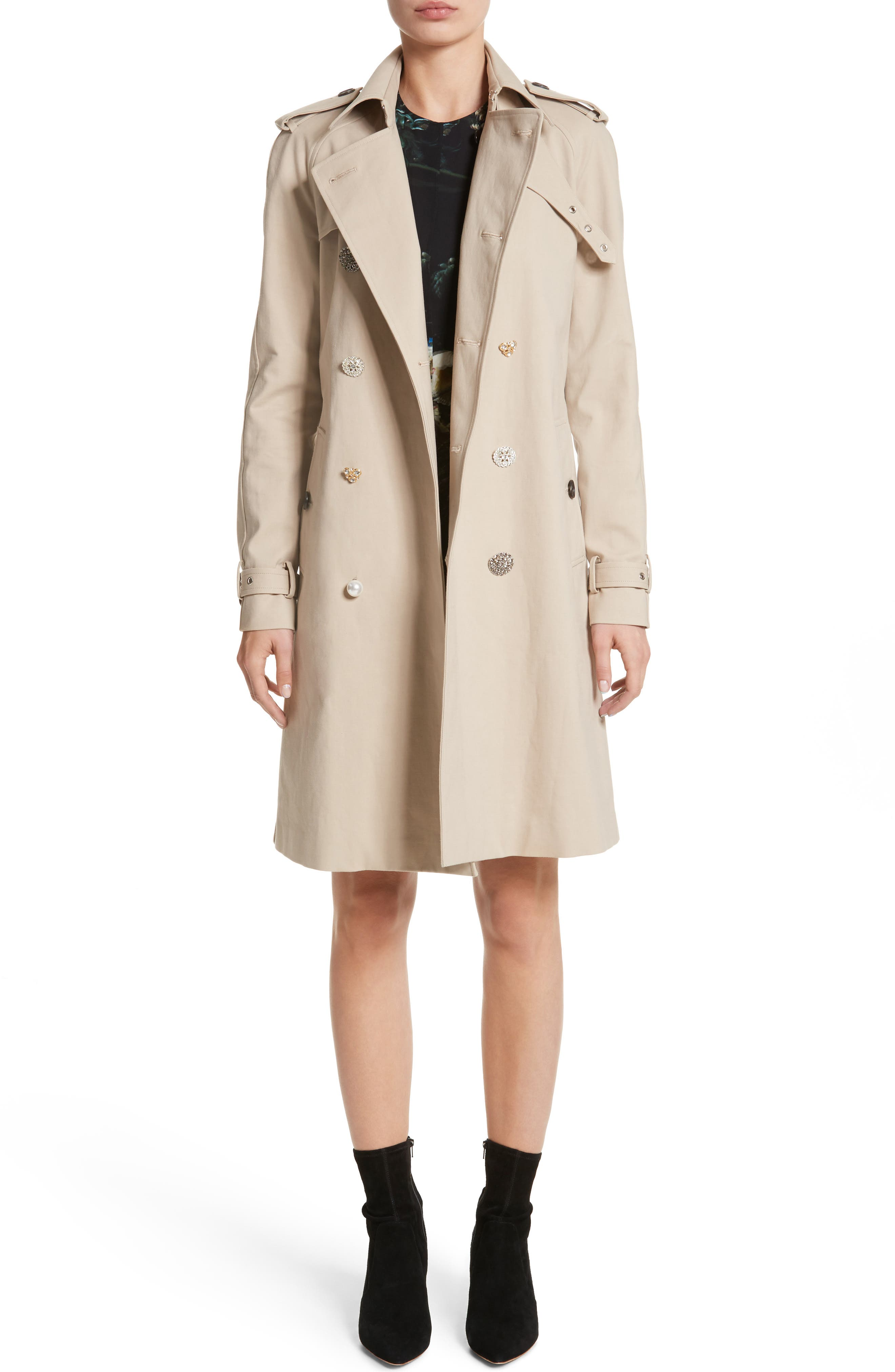 Alternate Image 7  - Adam Lippes Embellished Button Trench Coat