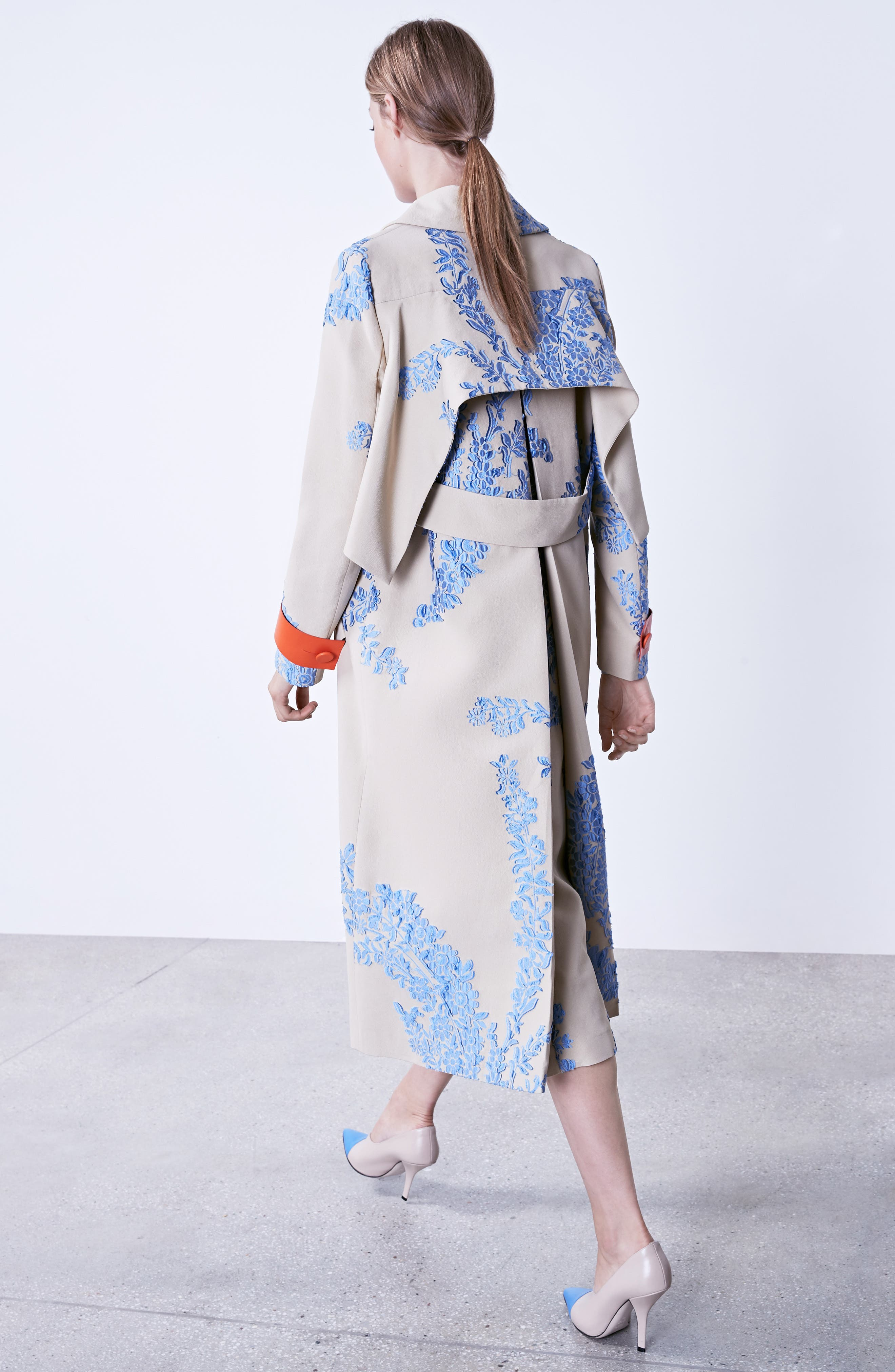 Fil Coupe Trench Coat,                             Alternate thumbnail 2, color,                             Faith Blue