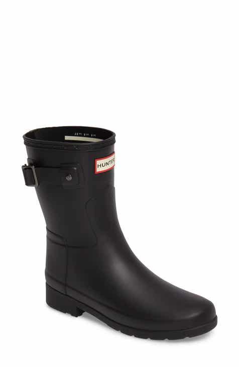 Hunter Original Refined Short Waterproof Rain Boot (Women) ebcb5823ea7