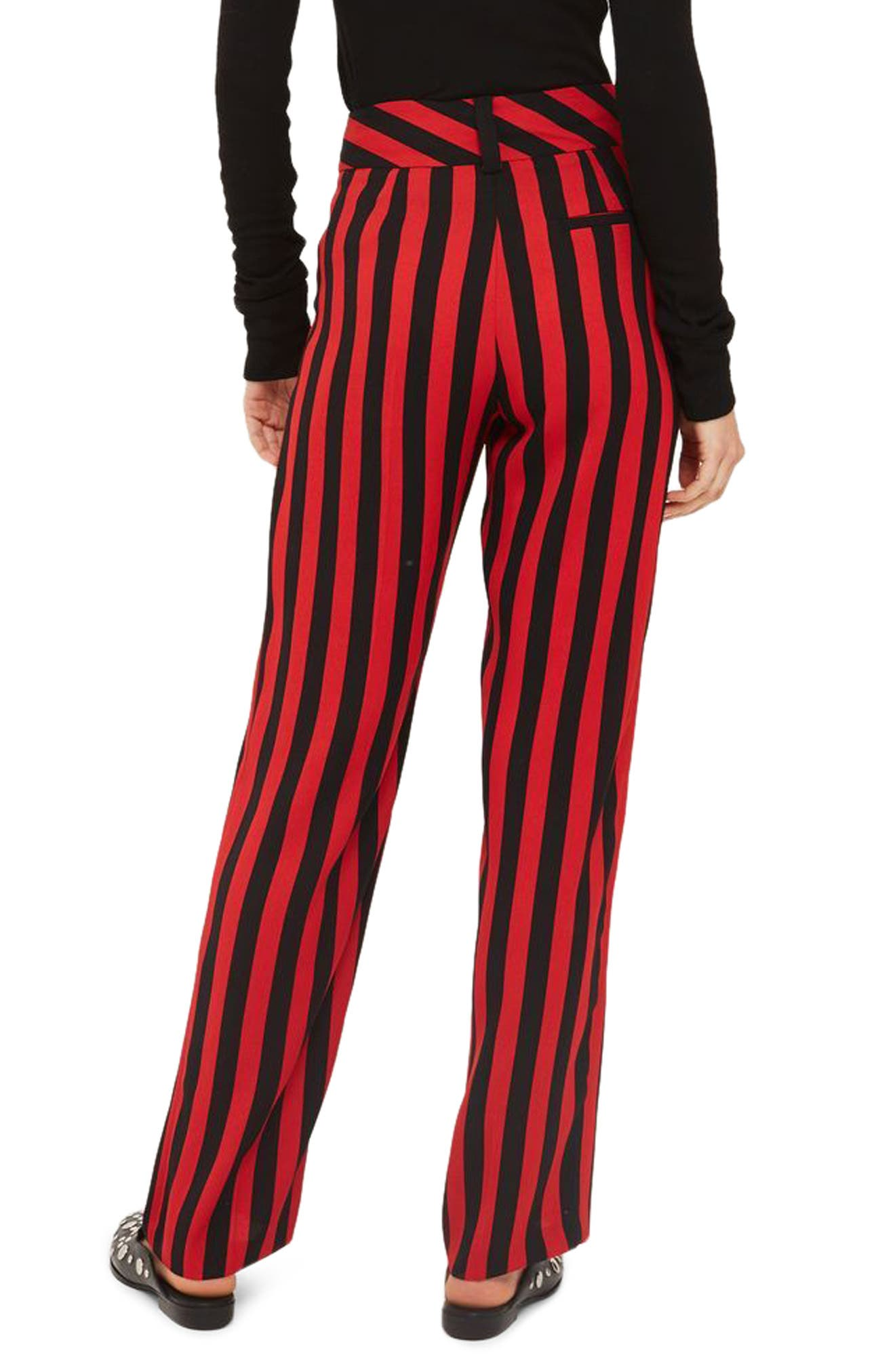 Humbug Stripe Trousers,                             Alternate thumbnail 2, color,                             Red Multi