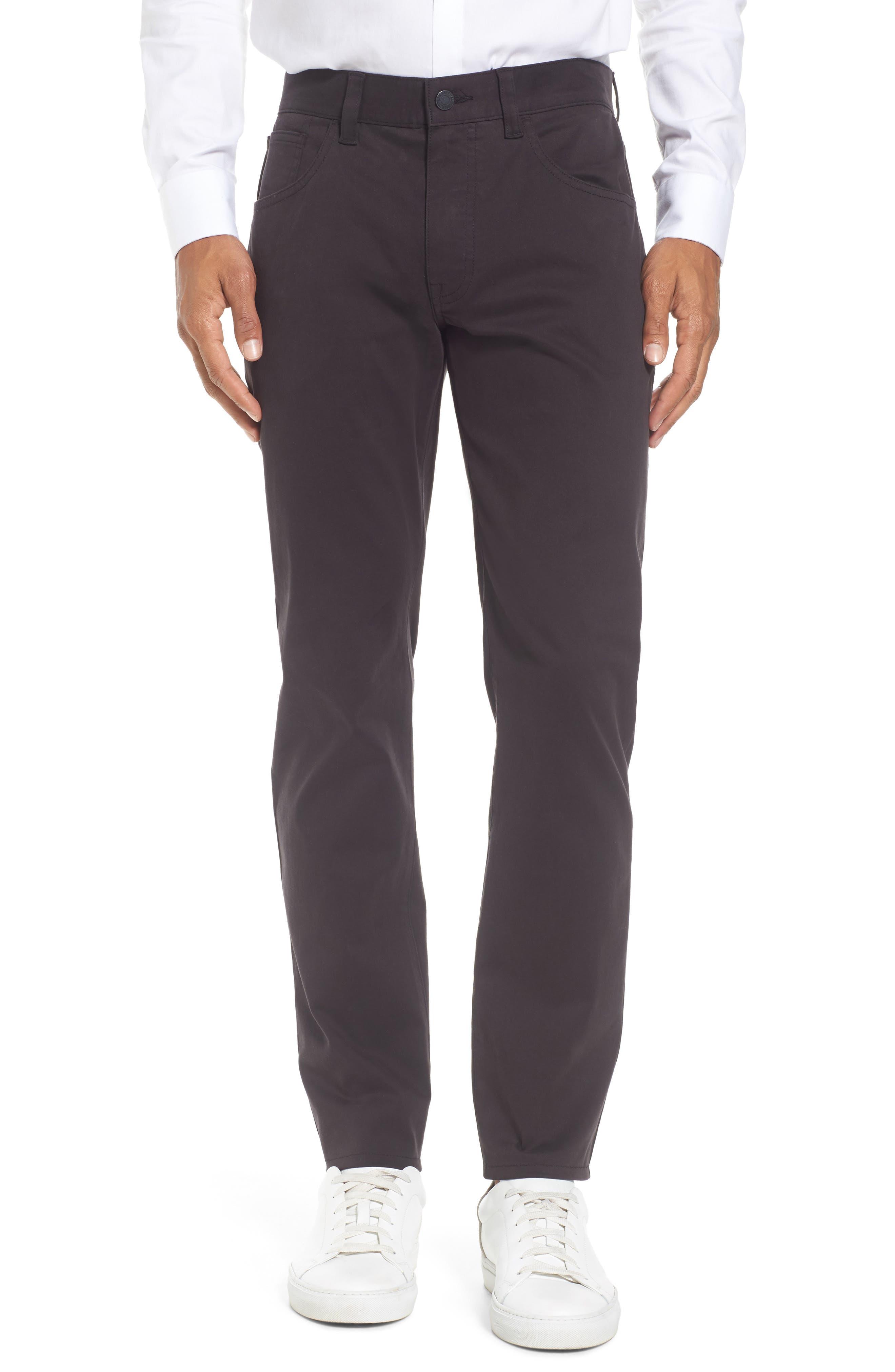 Slim Stretch Twill Pants,                         Main,                         color, Jet Black