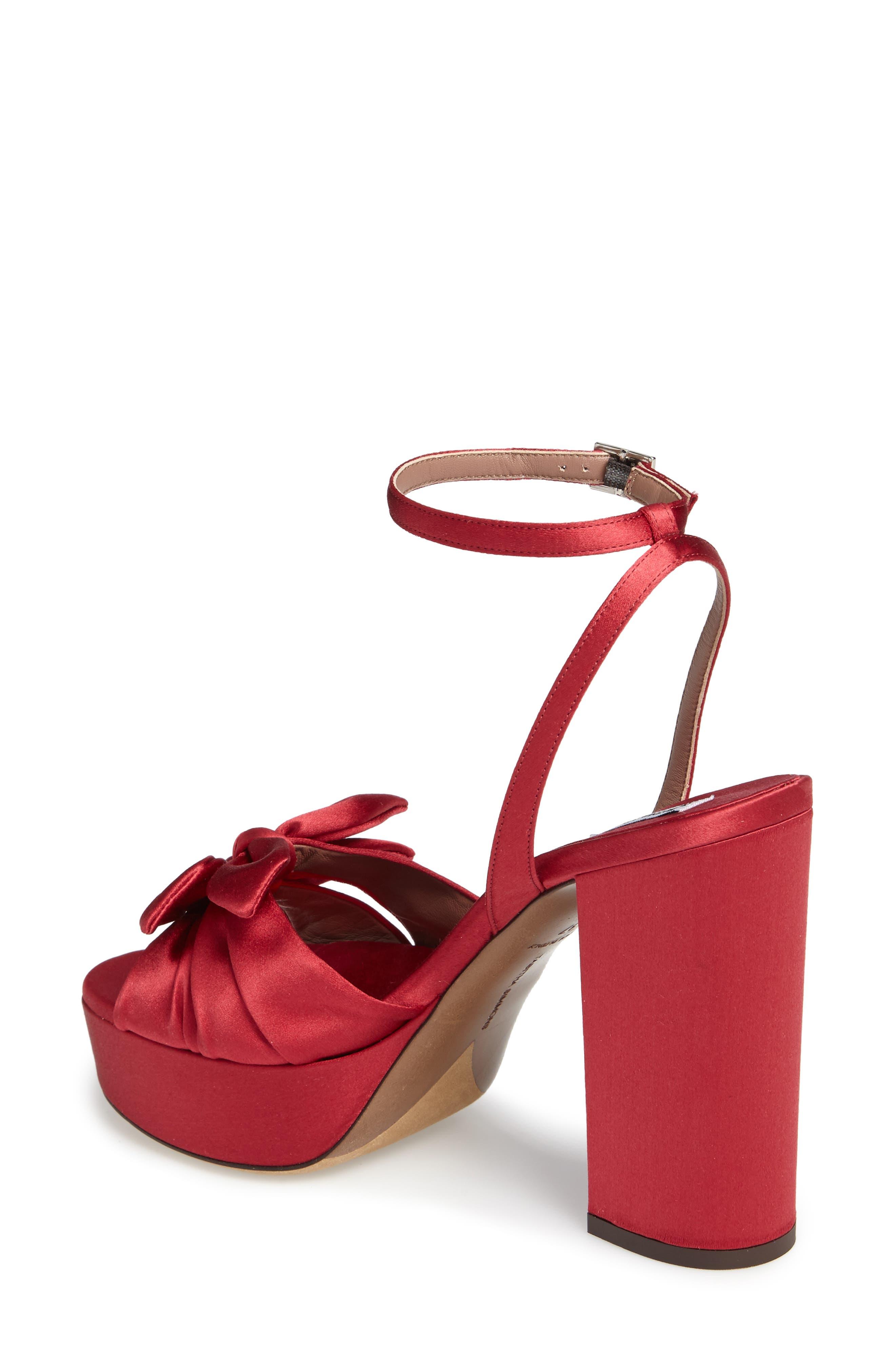 Jodie Platform Sandal,                             Alternate thumbnail 2, color,                             Red