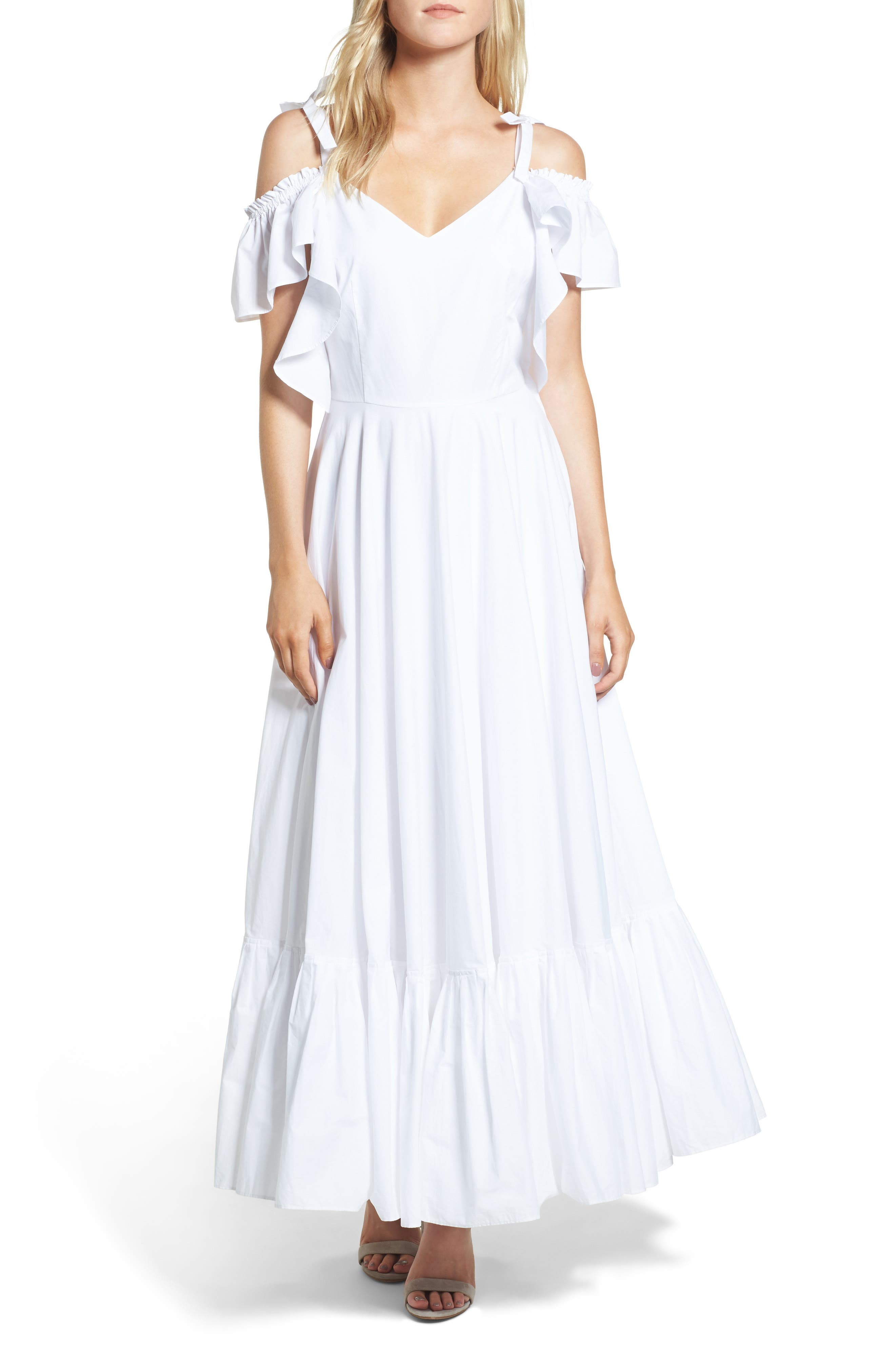 Lake Como Maxi Dress,                             Main thumbnail 1, color,                             White