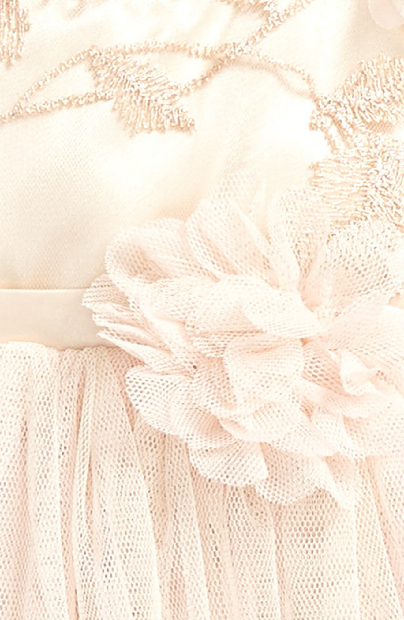Tulle Party Dress,                             Alternate thumbnail 3, color,                             Ivory