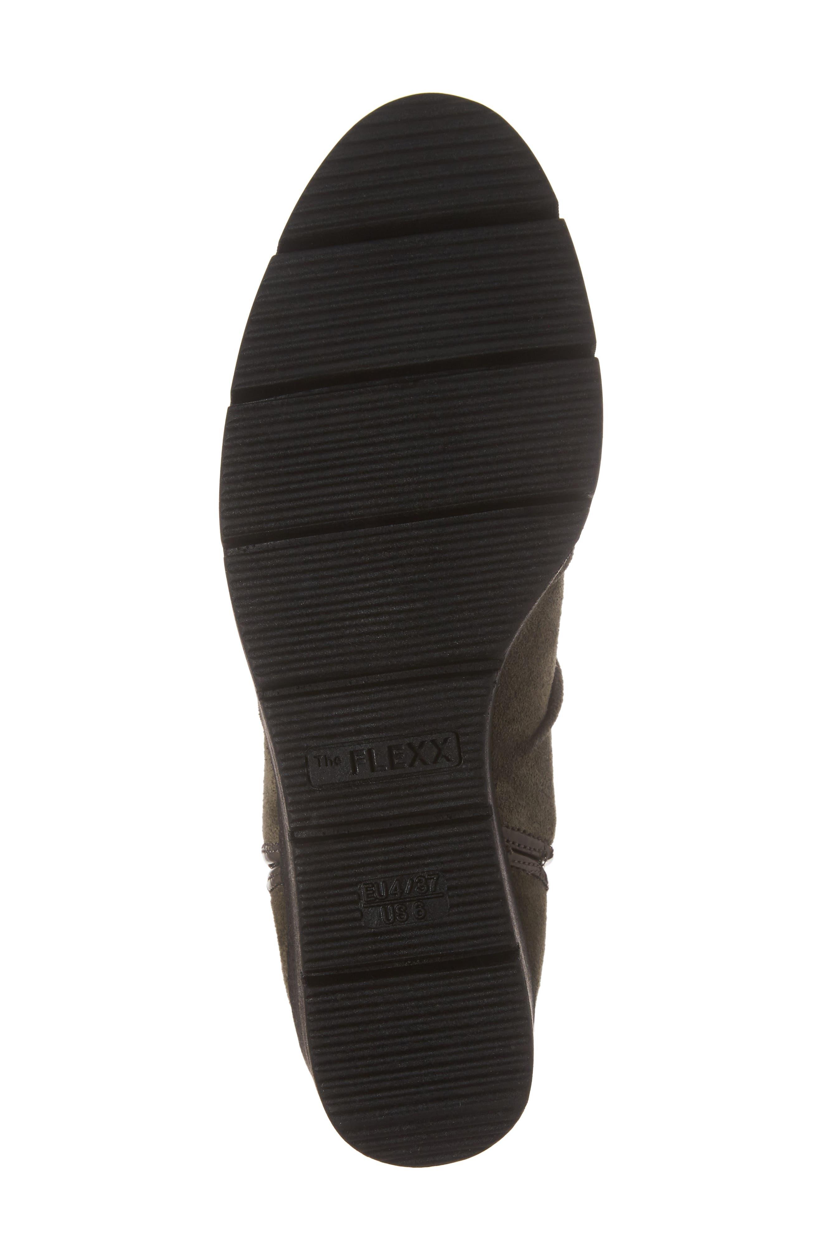 'Spaceless' Chelsea Wedge Boot,                             Alternate thumbnail 6, color,                             Khaki Suede