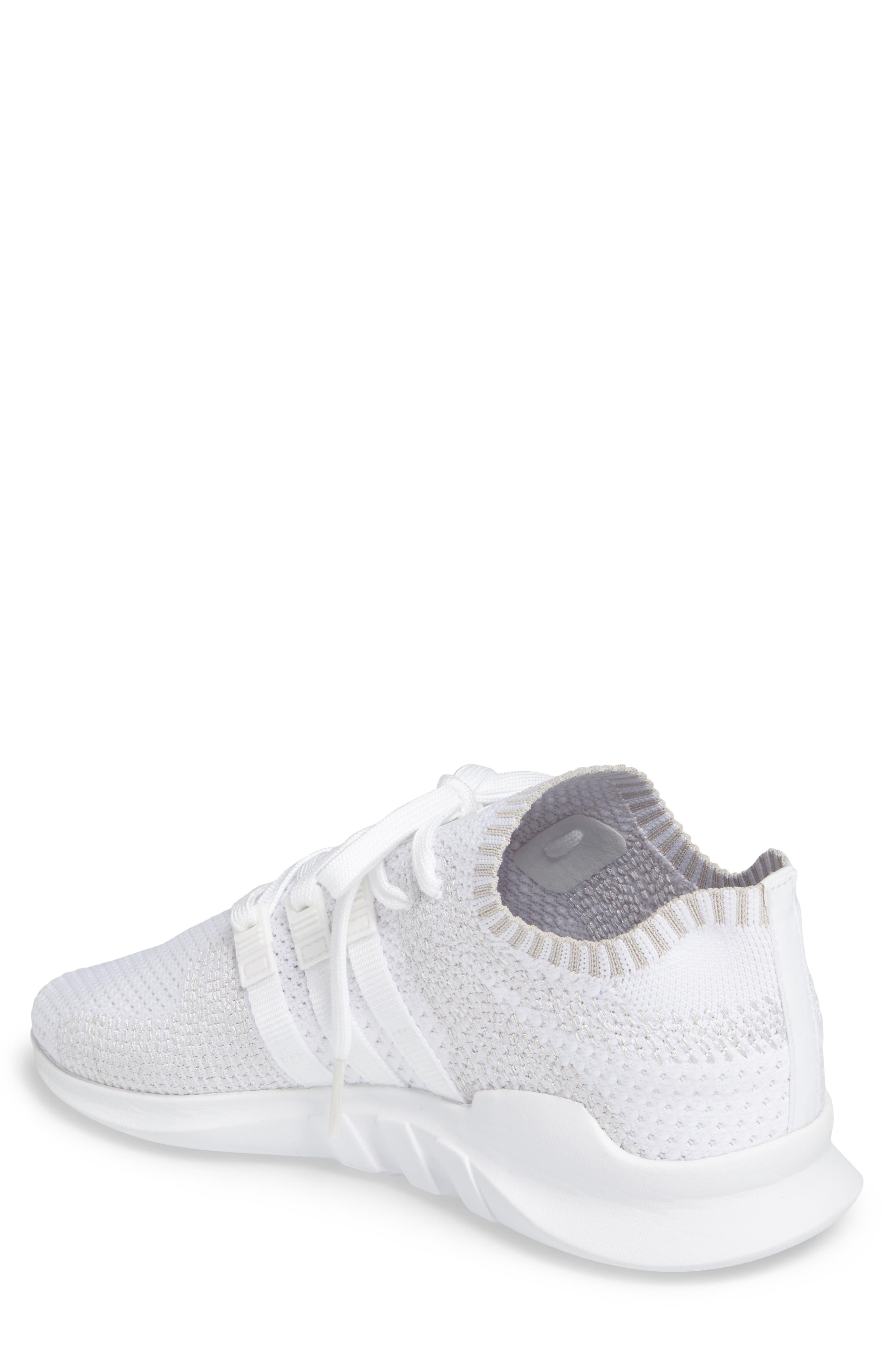 EQT Support ADV PrimeKnit Sneaker,                             Alternate thumbnail 2, color,                             White/ White/ Sub Green