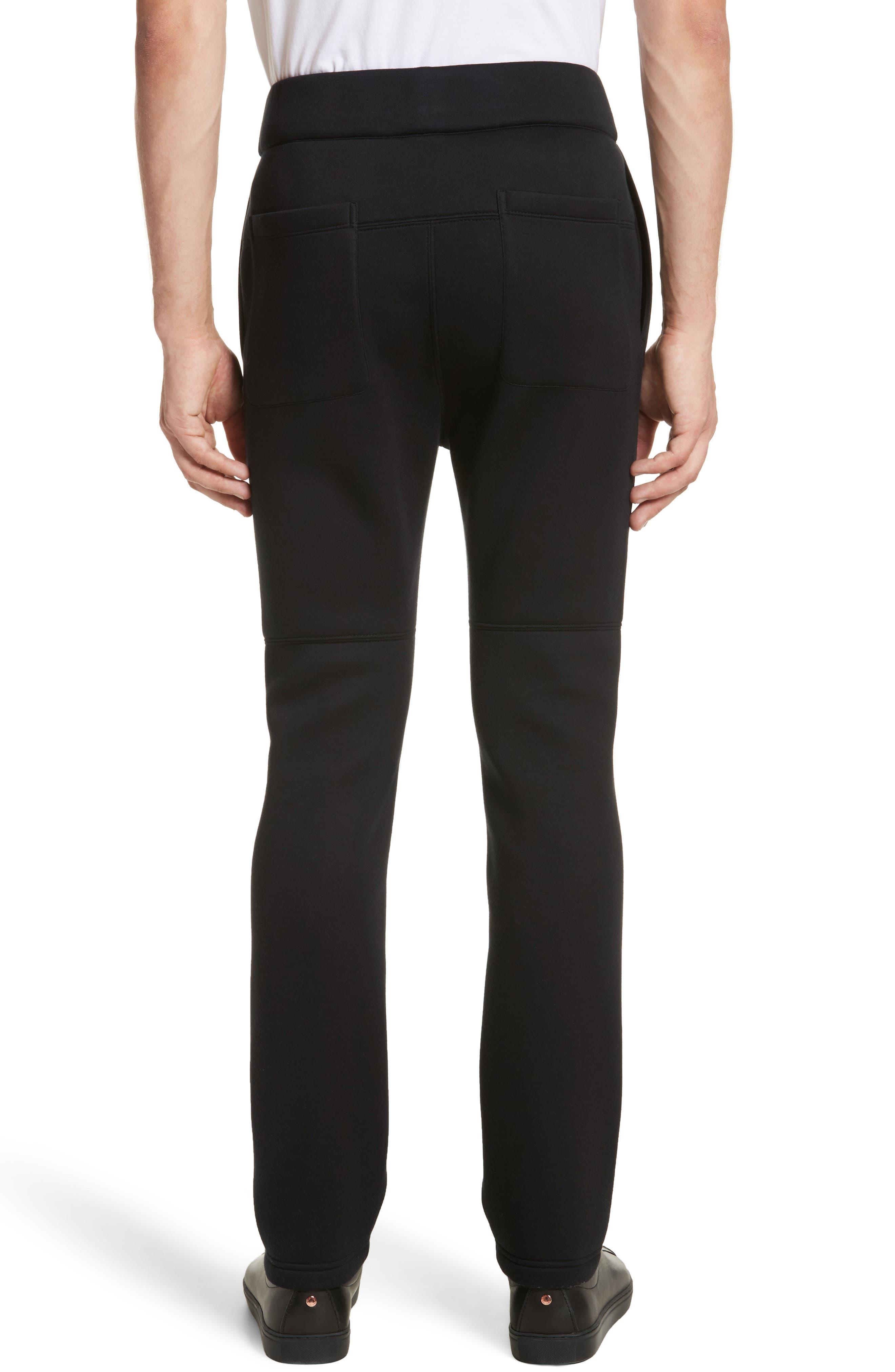 Straight Leg Jogger Pants,                             Alternate thumbnail 2, color,                             Black