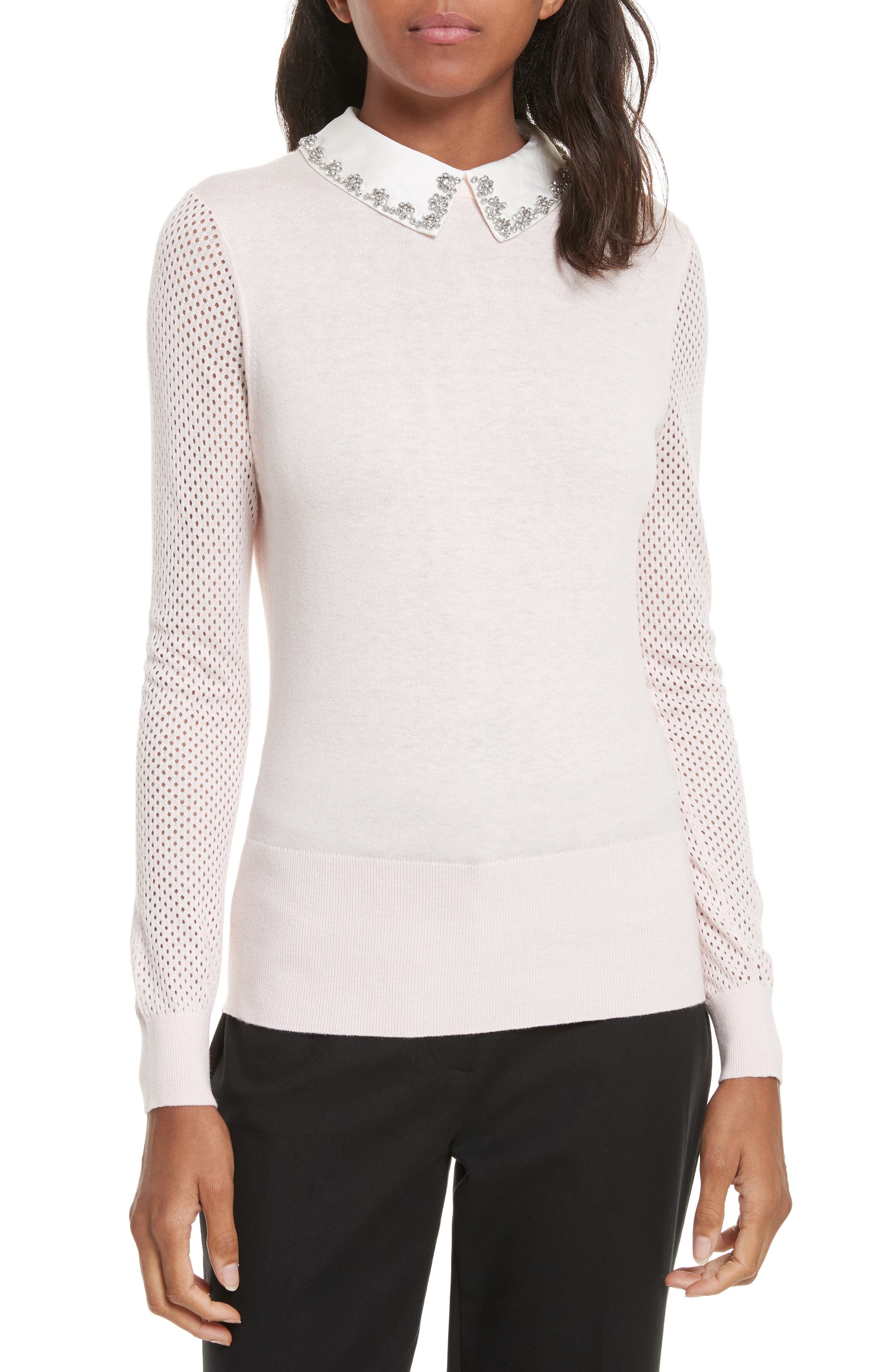 Ted Baker London Braydey Embellished Collar Sweater